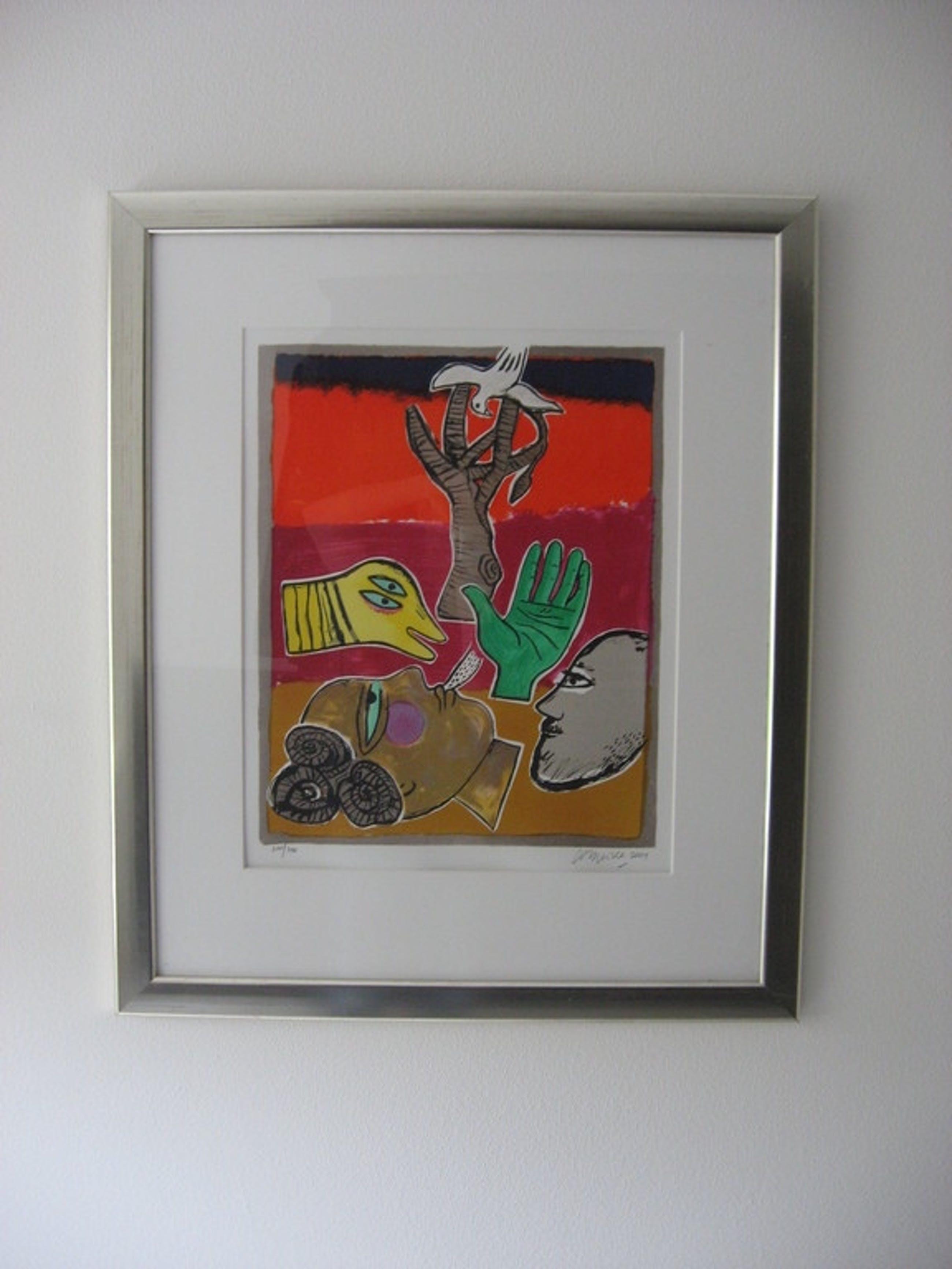Corneille: Kleurenlitho, Un bel été, 2001, ingelijst kopen? Bied vanaf 219!
