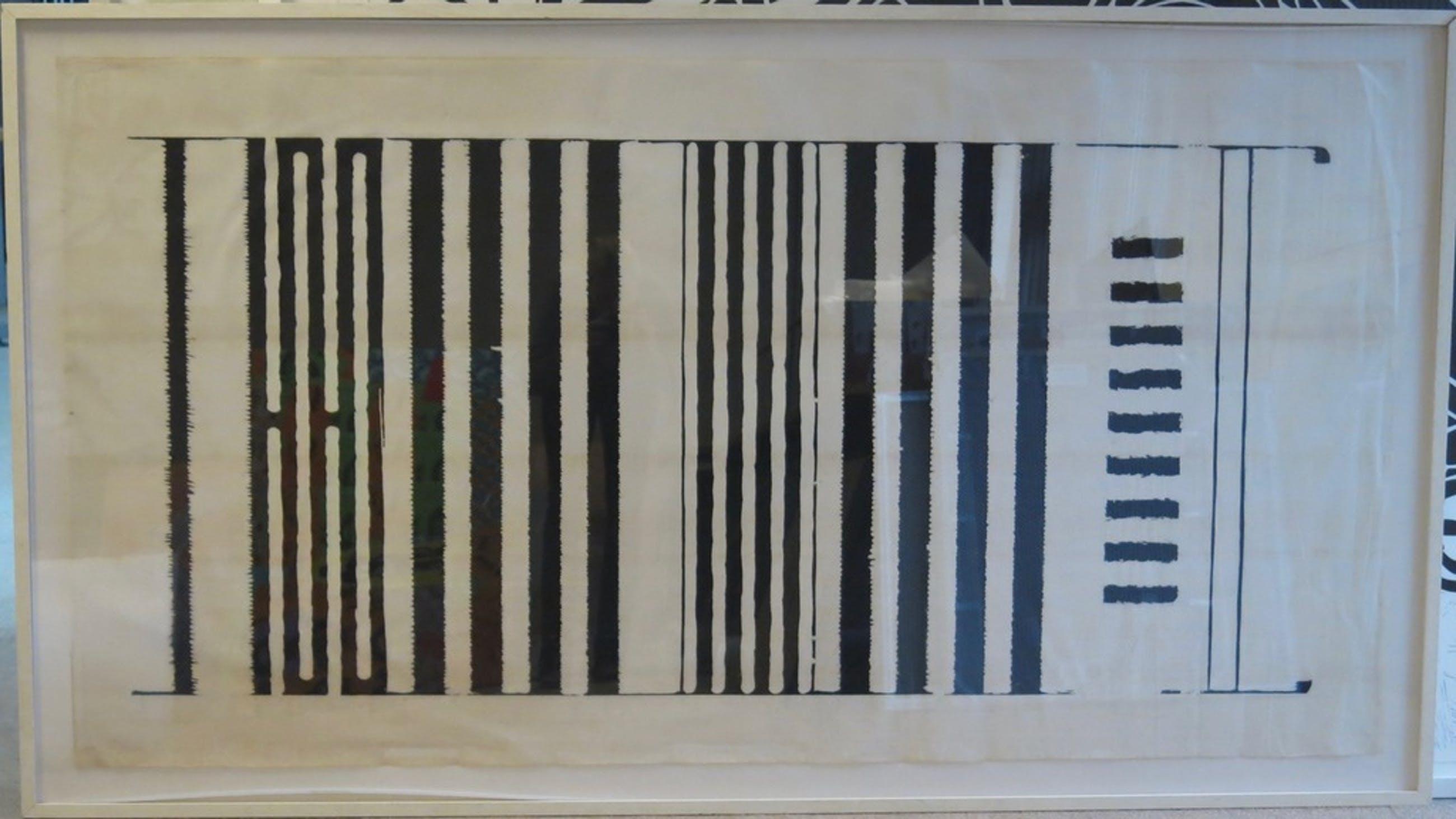 Kas Gerrits: Houtsnede op Japans papier, Canto lang - Ingelijst (Zeer groot) kopen? Bied vanaf 1!