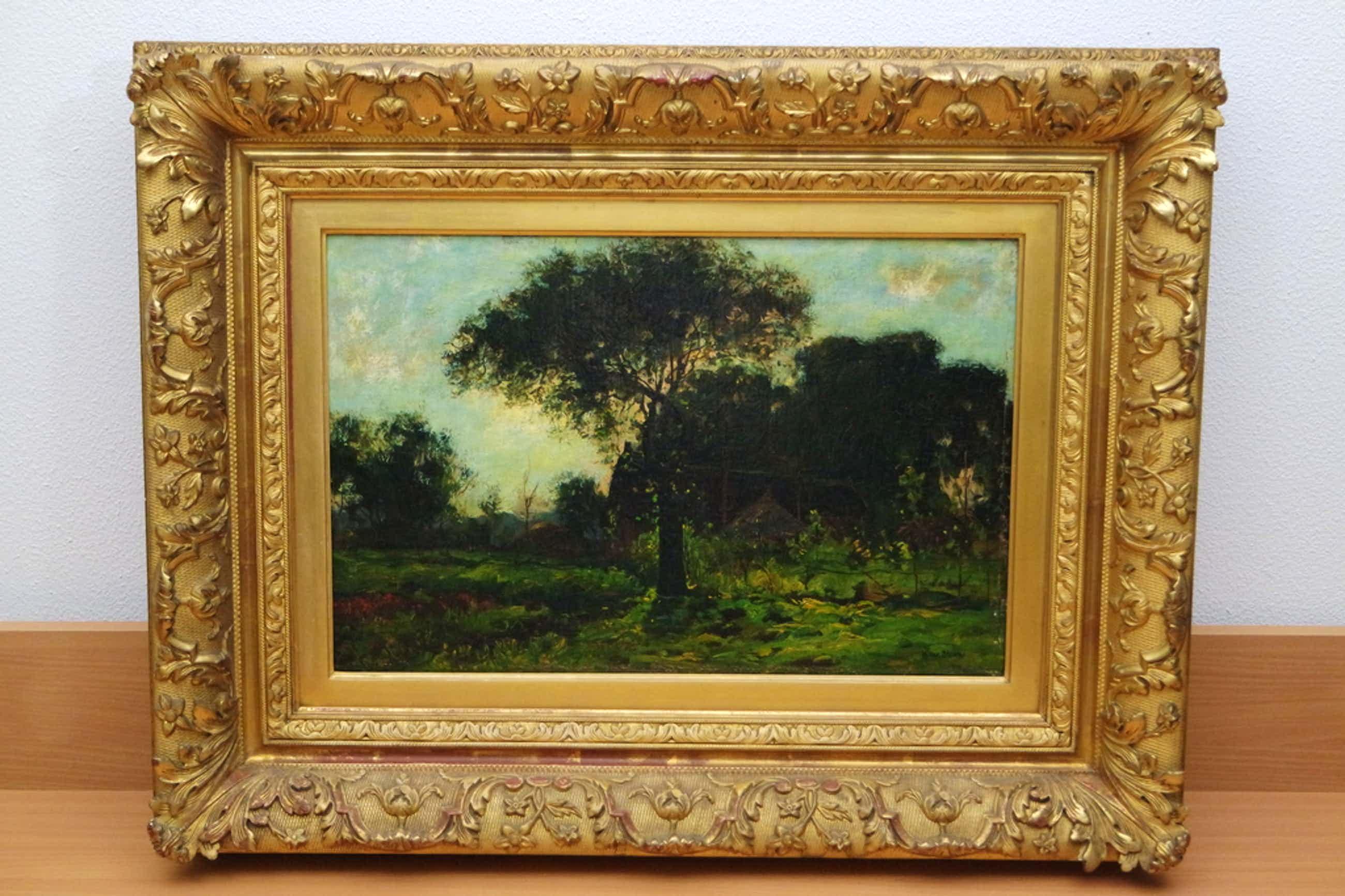 Hendrik van Bloem (1874-1960) - olieverf op paneel - landschap kopen? Bied vanaf 410!