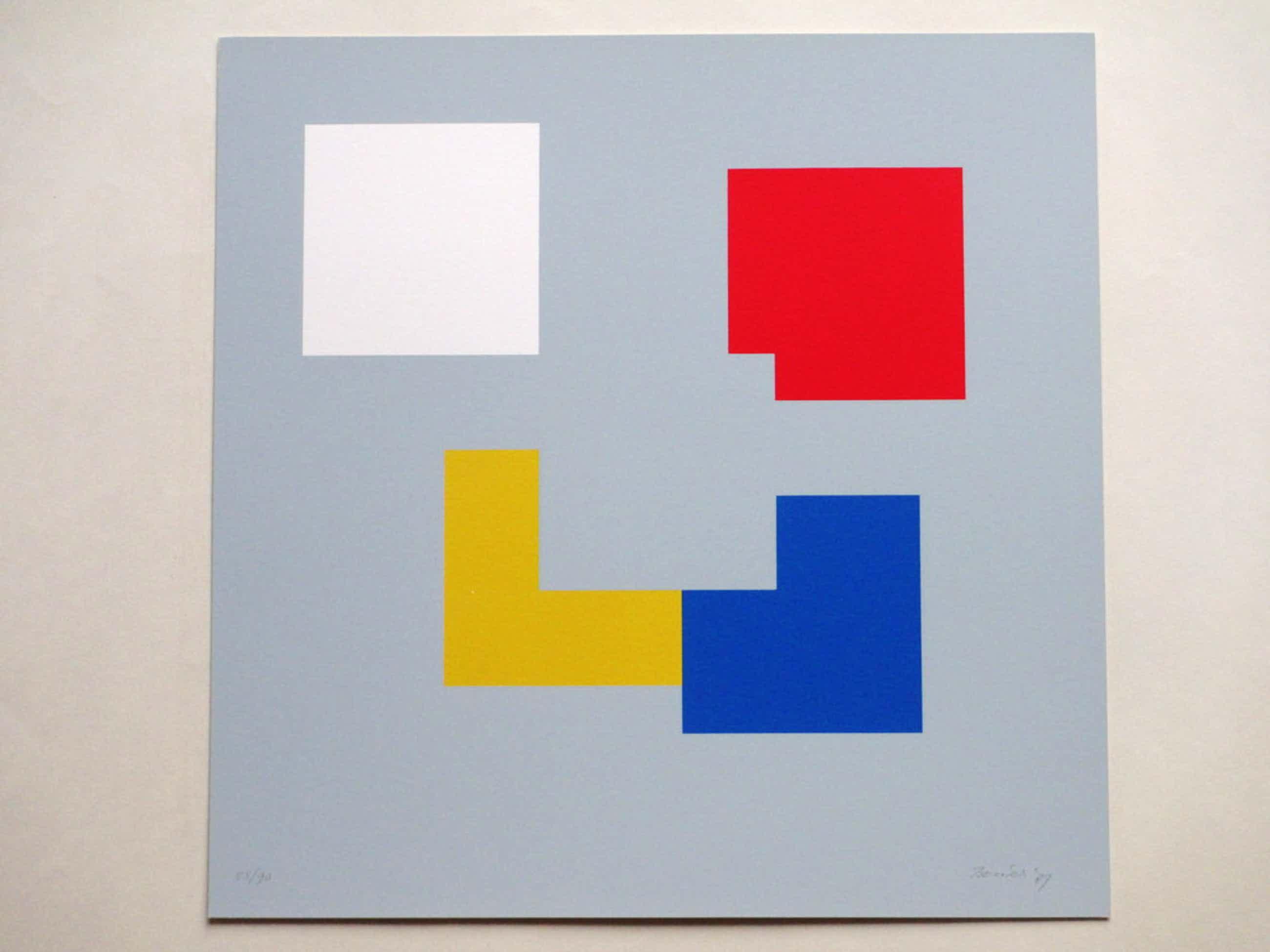 Bob Bonies, Compositie primaire kleuren, Zeefdruk kopen? Bied vanaf 75!
