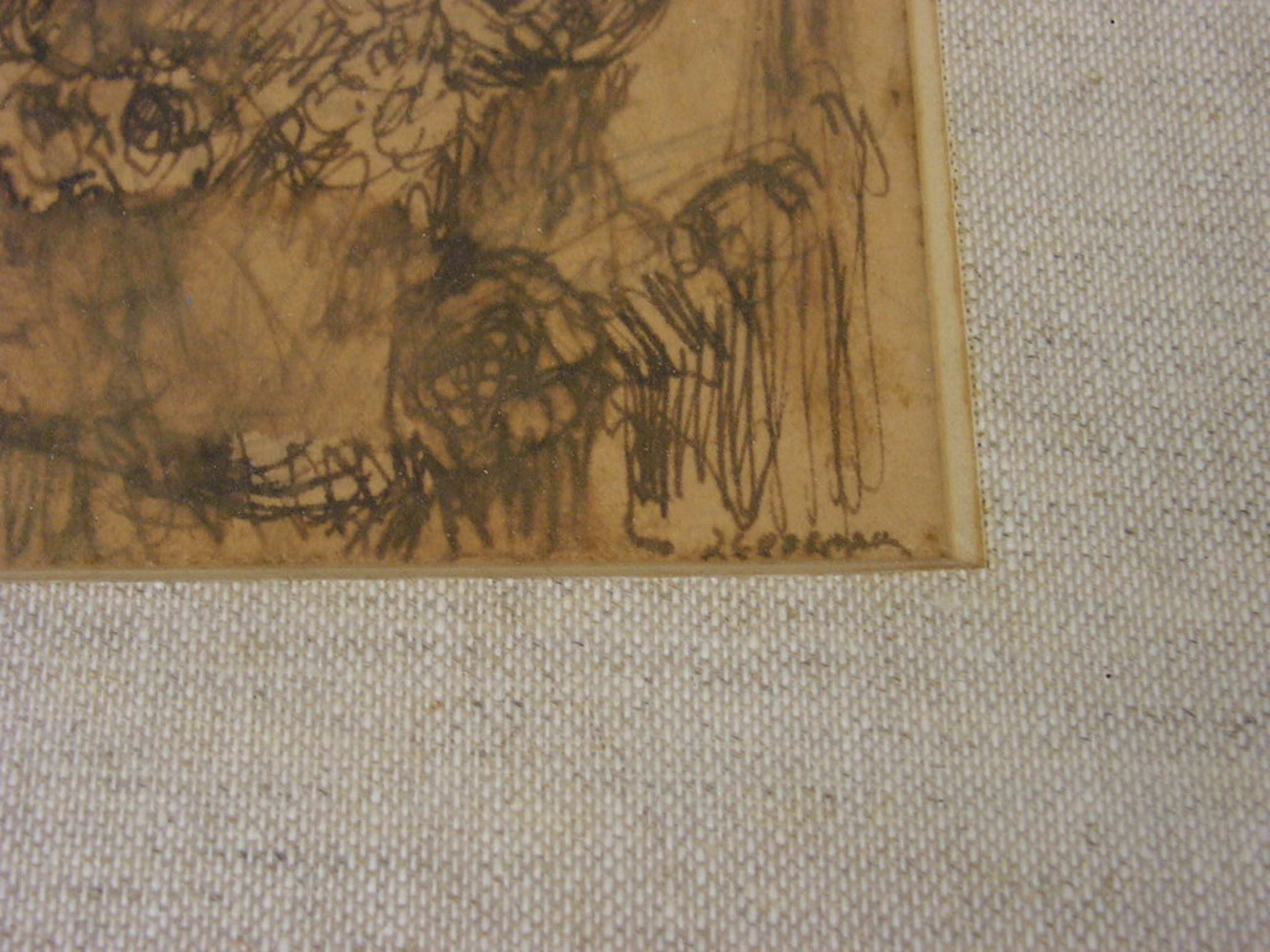 Jan Cossaar  -  tekening inkt  kopen? Bied vanaf 1!
