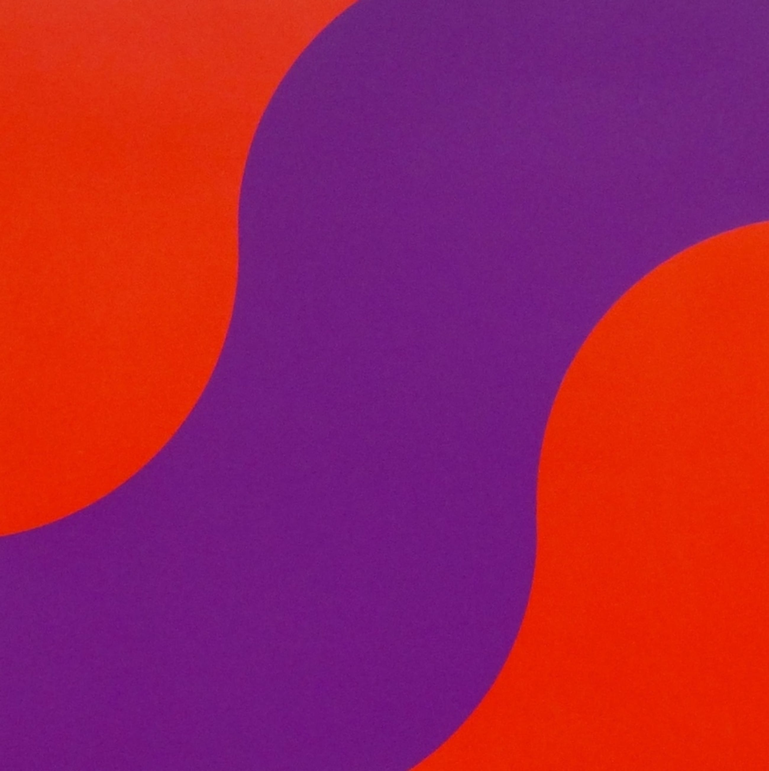 Hans Koetsier, zeefdruk: Purple wave, handgesigneerd kopen? Bied vanaf 50!