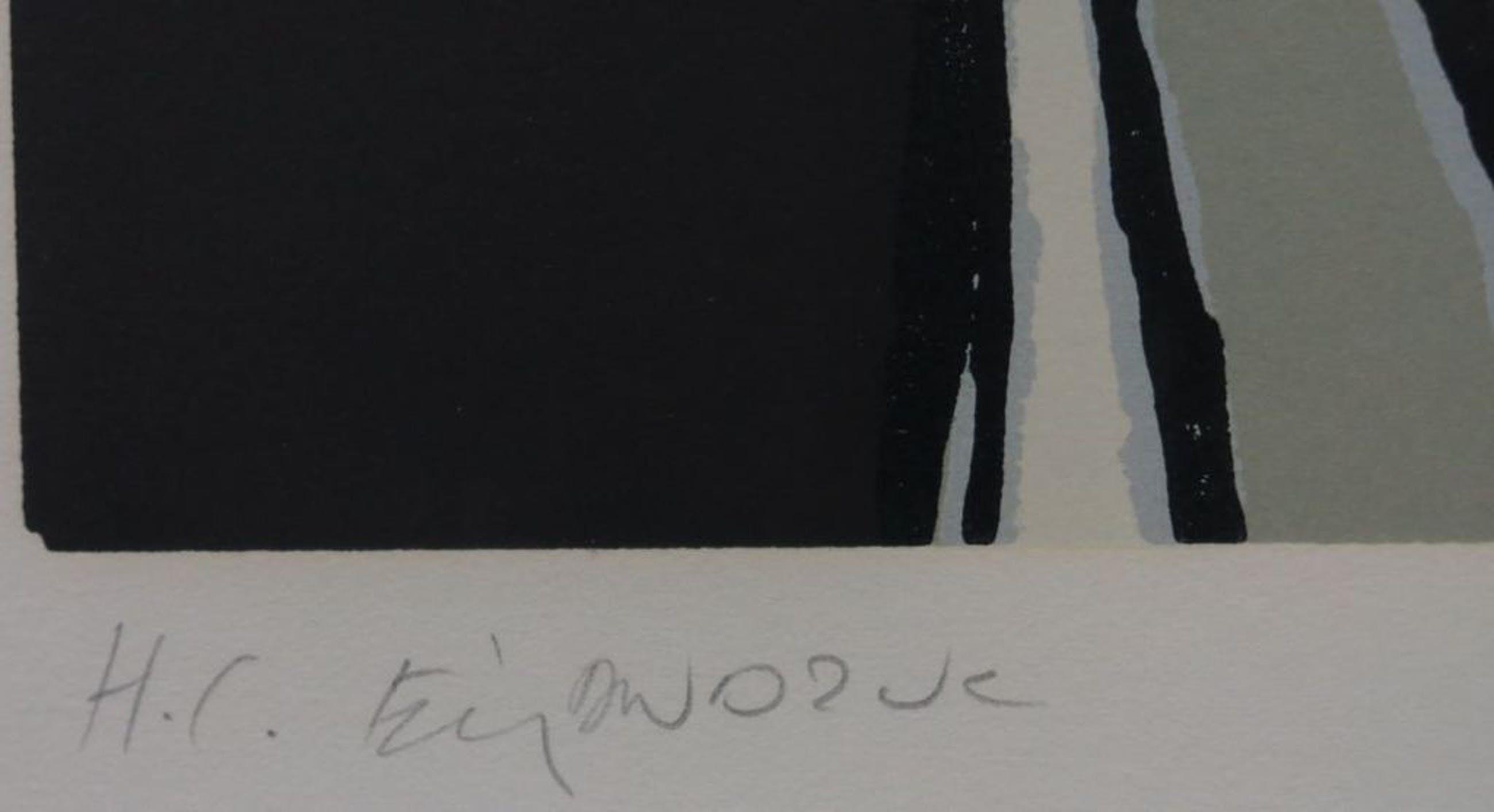 Fon Klement: Boarddruk, zonder titel -Ingelijst (groot) kopen? Bied vanaf 150!