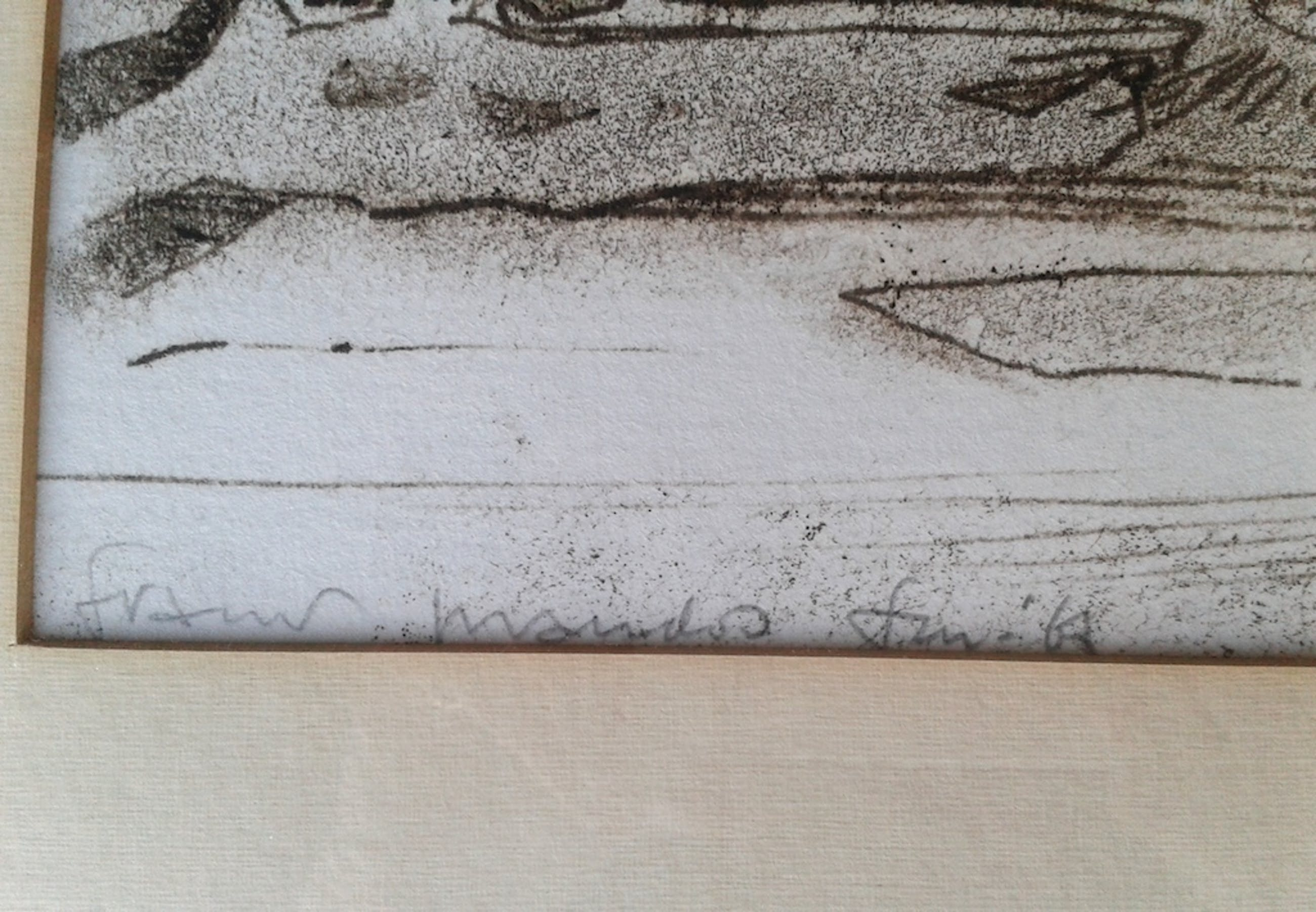 Originele ets FRANS MANDOS - 64 x 48 cm-hand gesigneerd - uit 1967 kopen? Bied vanaf 20!