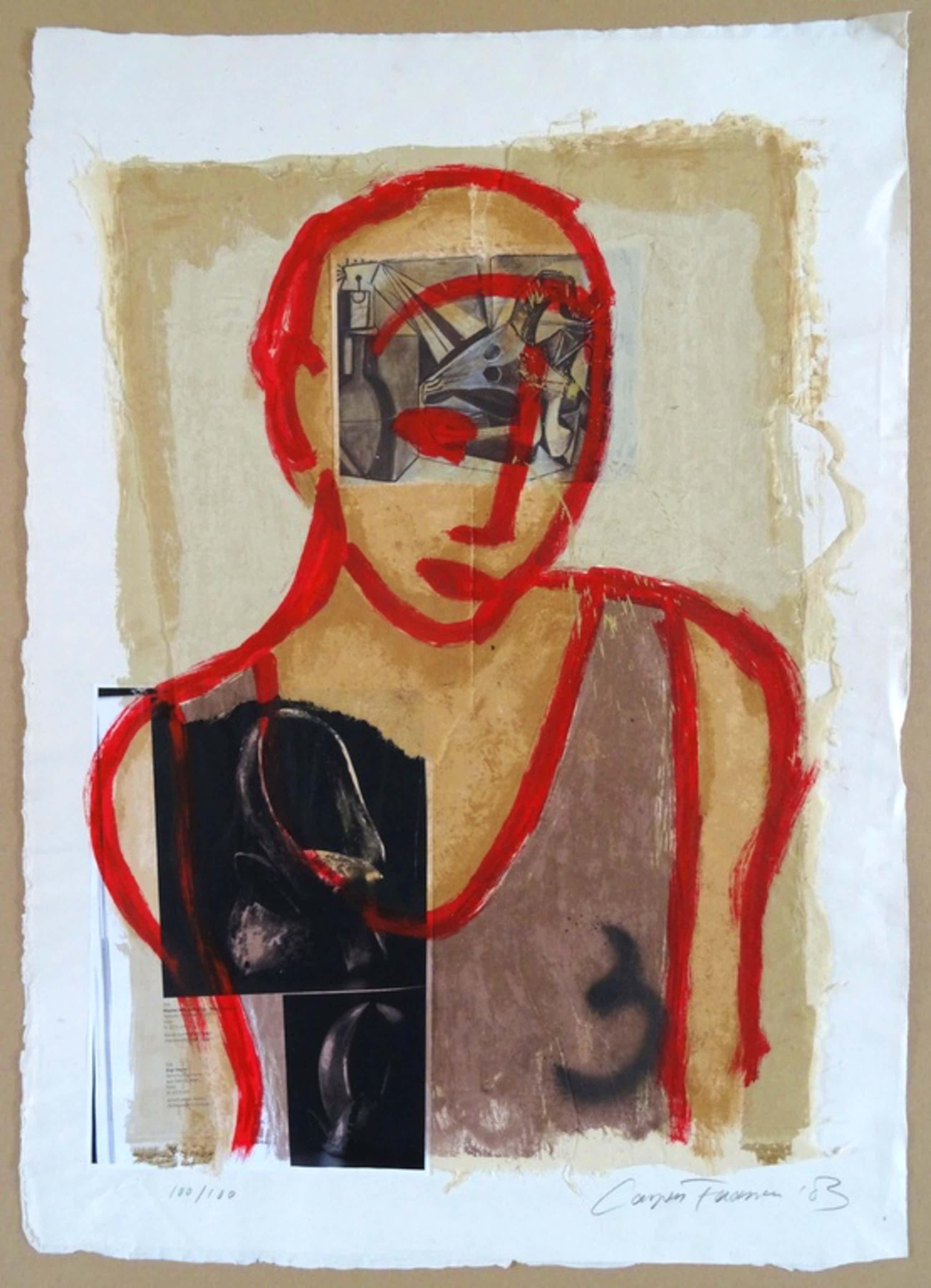 Casper Faassen, Zeefdruk / Collage, ''Inocento'' kopen? Bied vanaf 220!
