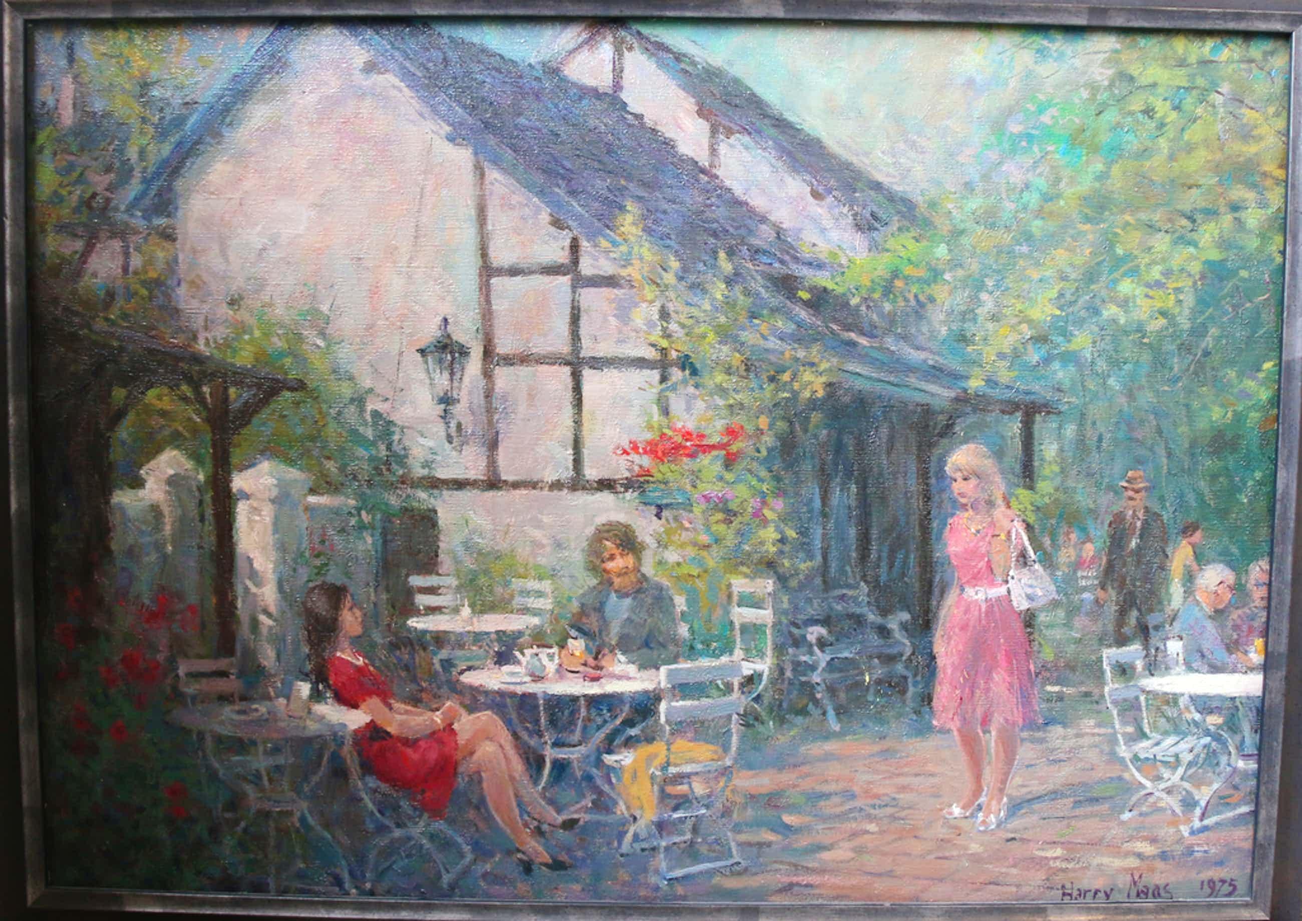 Harry Maas: Olieverf, Tuin kopen? Bied vanaf 1150!