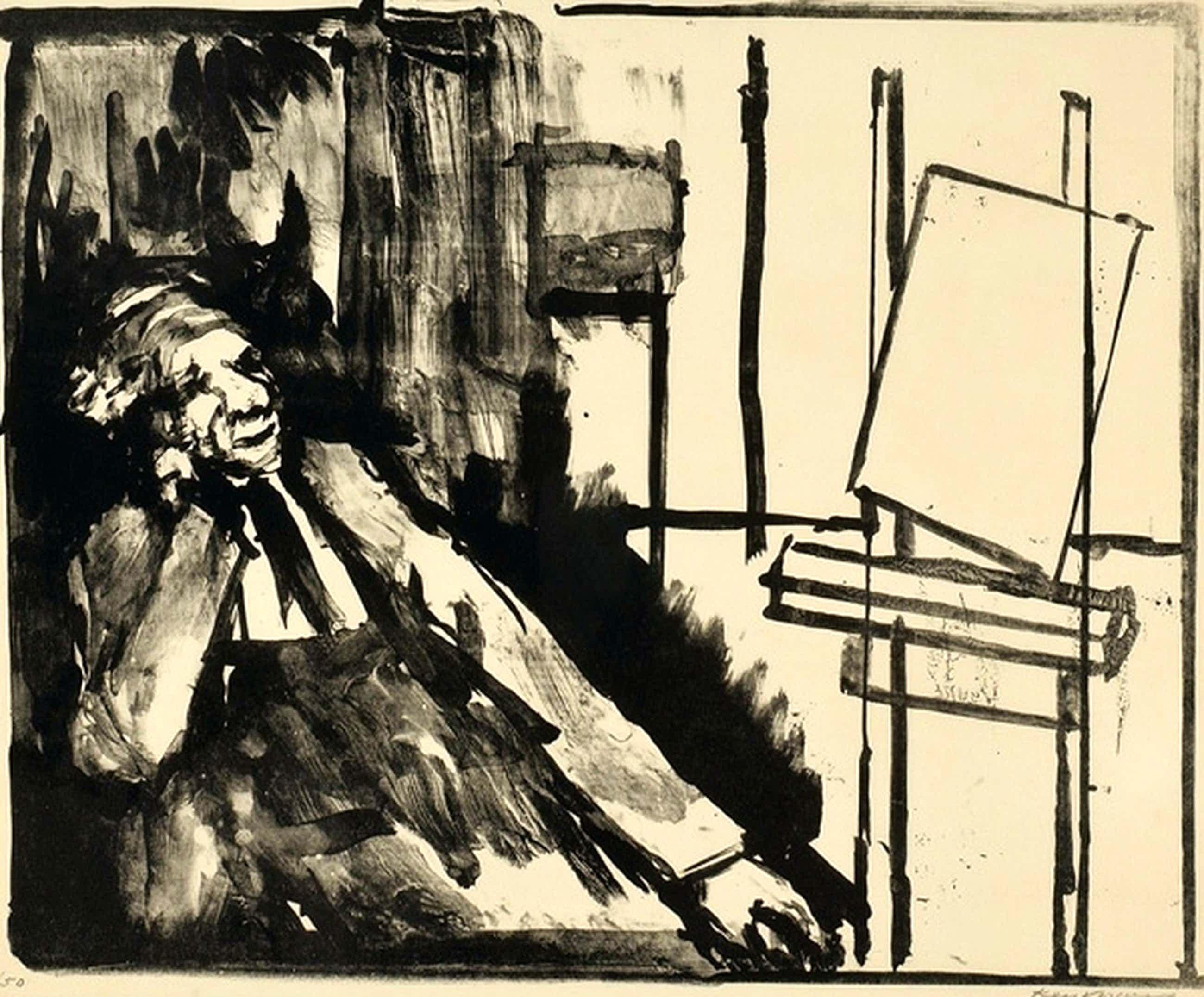 KEES VERWEY litho zelfportret 1976 kopen? Bied vanaf 35!
