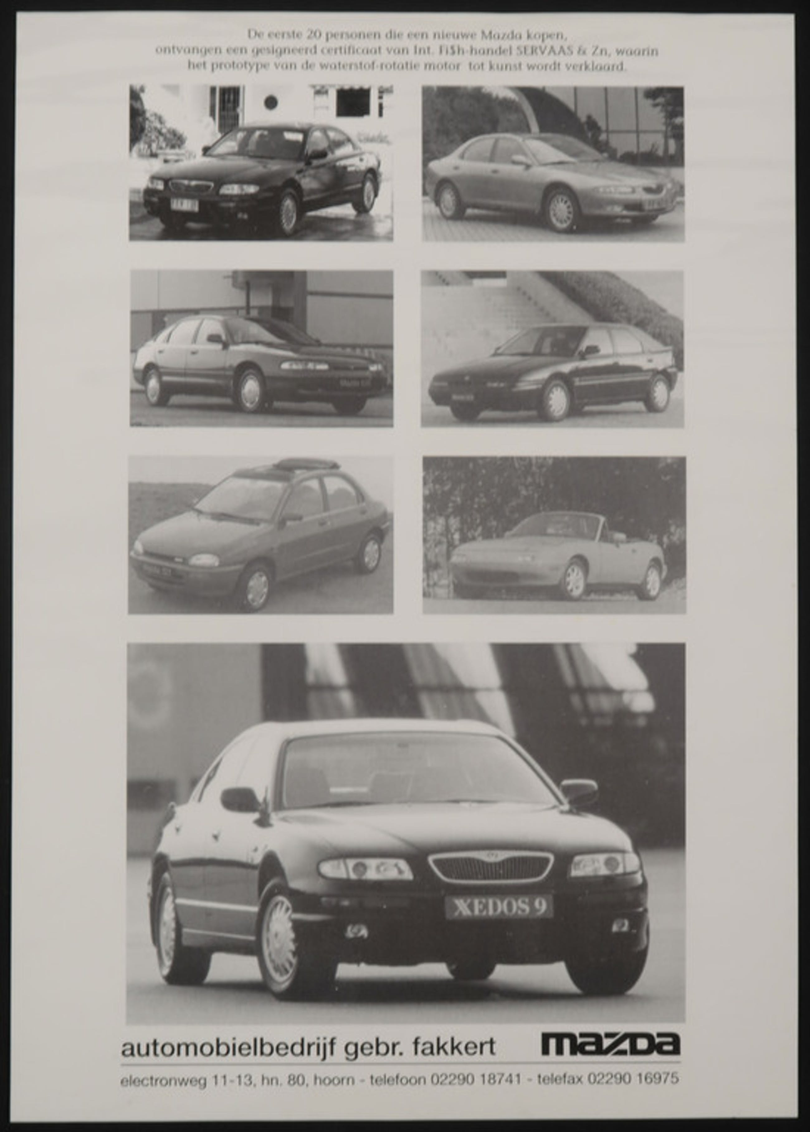 Lot van 3: o.a. Int. Fish-handel SERVAAS en Zn., Mazda Rijdt Kunst! kopen? Bied vanaf 1!