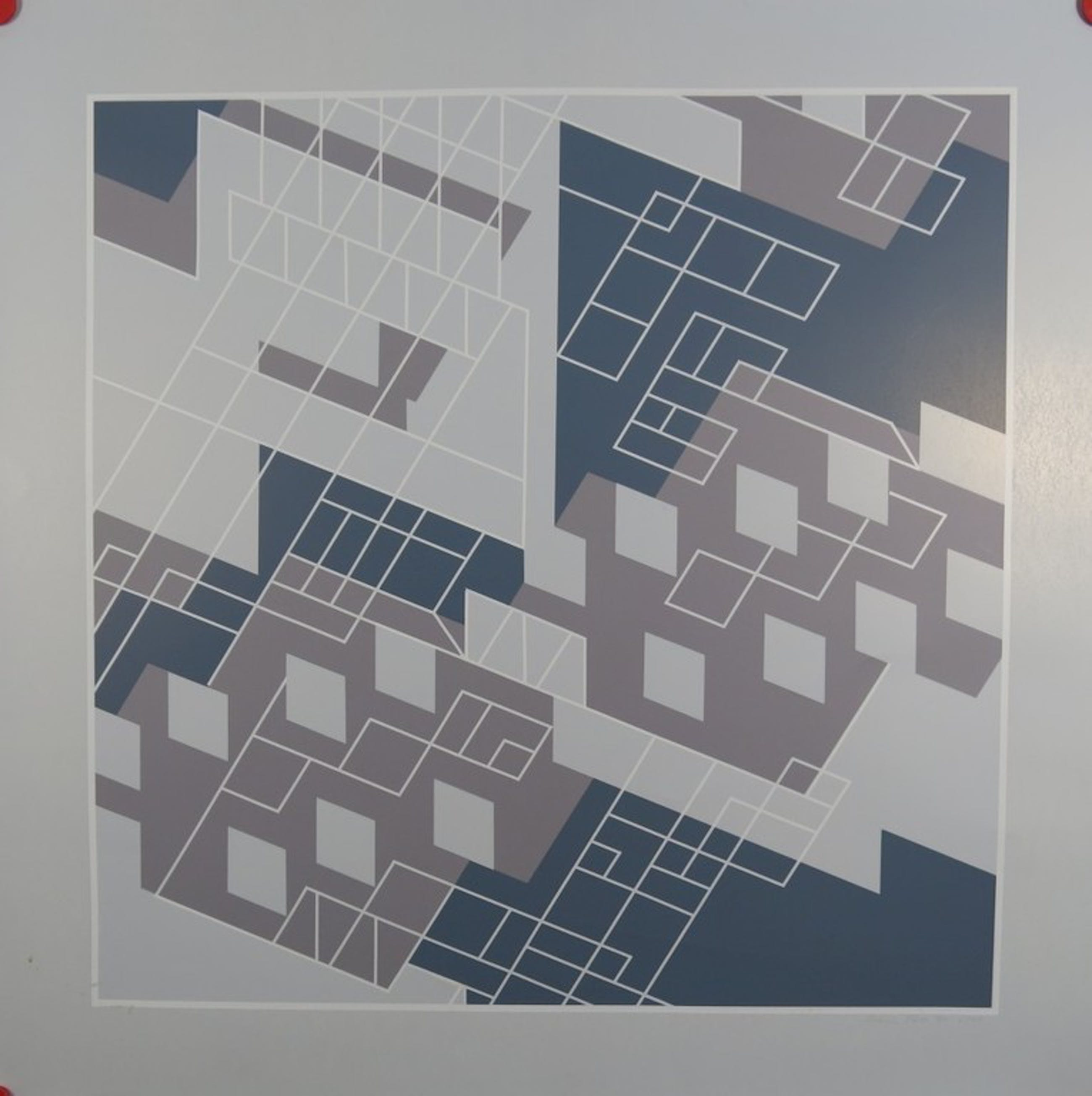 Urusla Pless: Zeefdruk, Geometrische Compositie kopen? Bied vanaf 1!