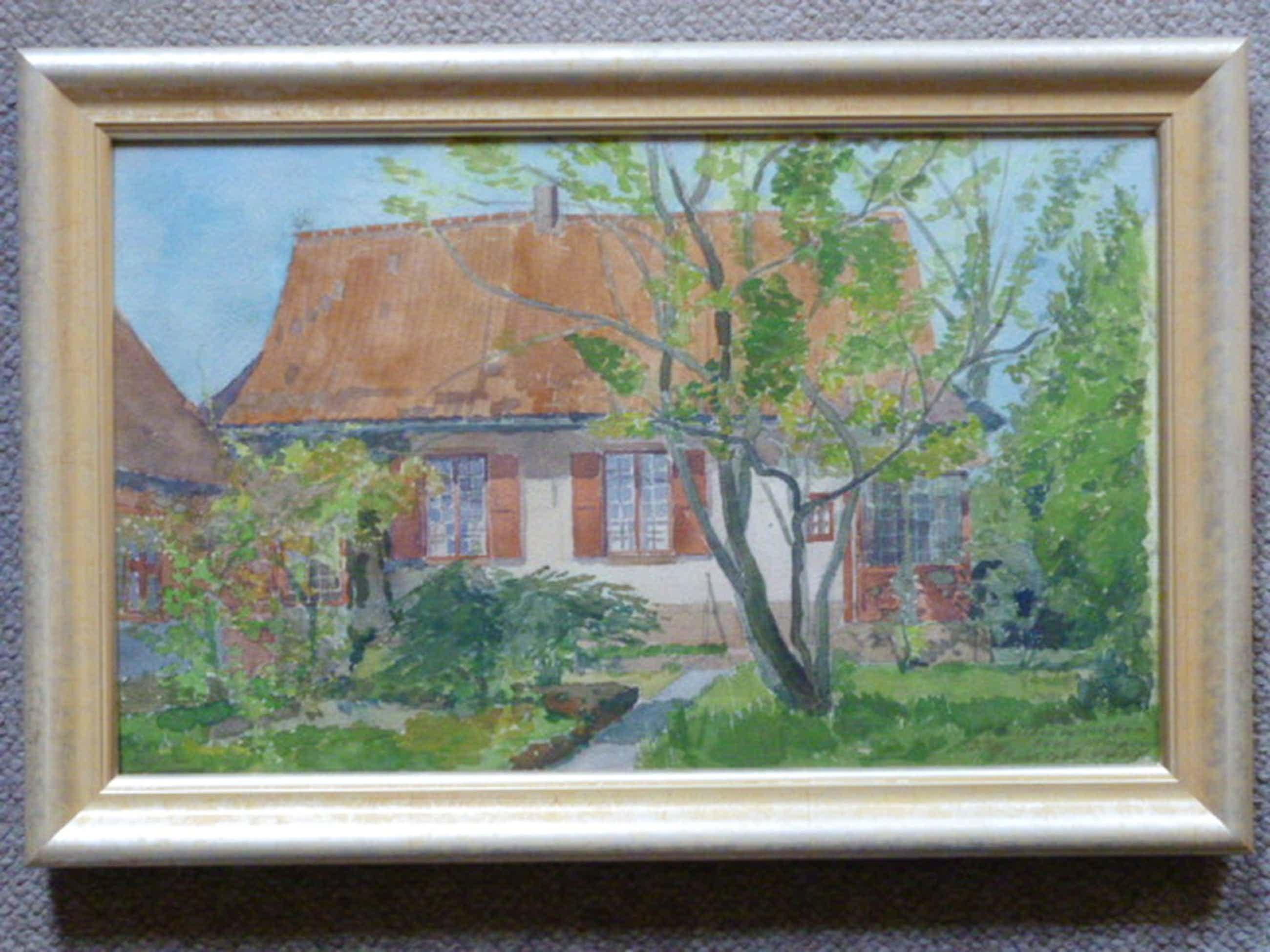 Otto B. de Kat - aquarel - Huis van de kunstenaar in Ukkel, België kopen? Bied vanaf 145!
