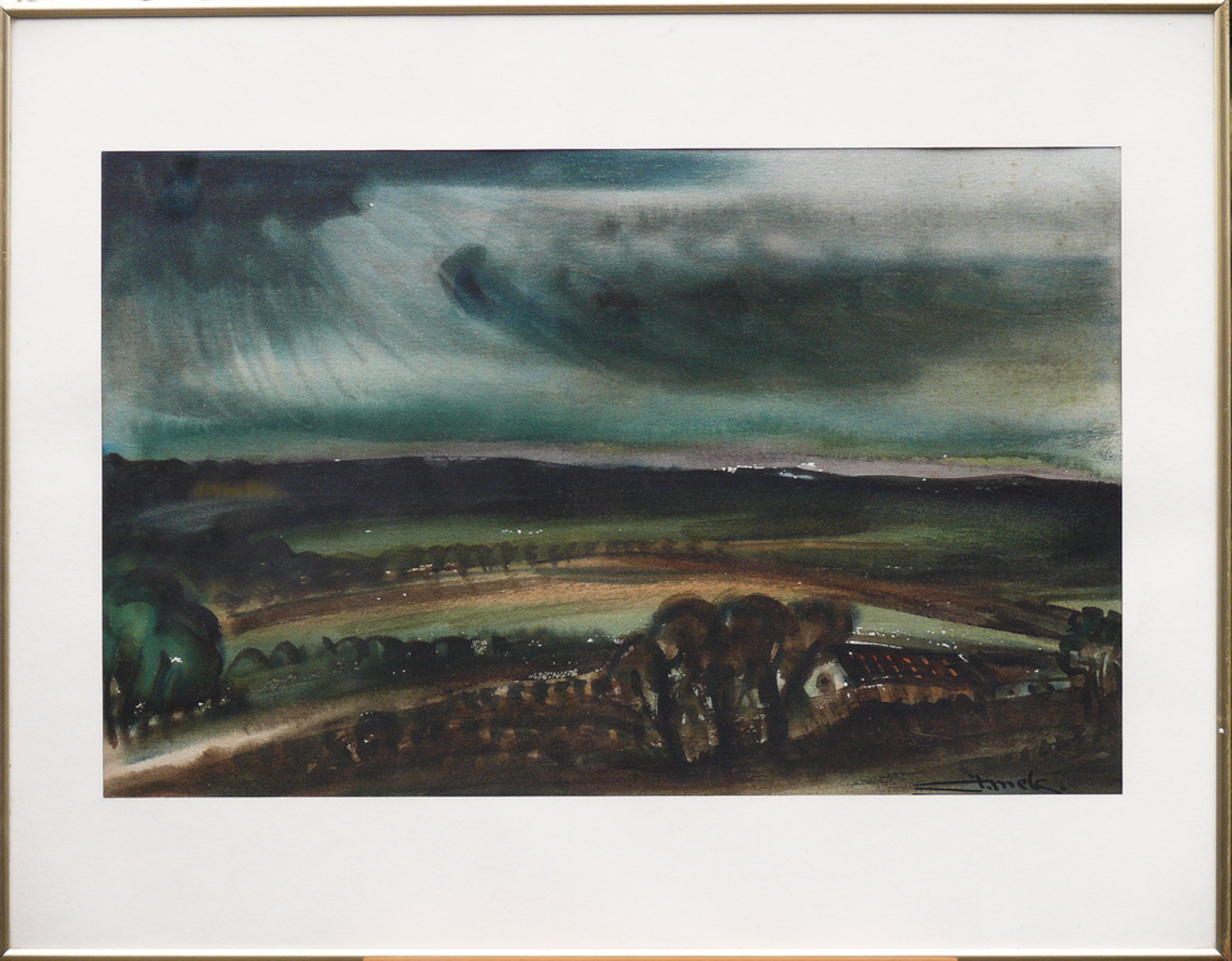 Jacques Mels: aquarel, landschap kopen? Bied vanaf 85!