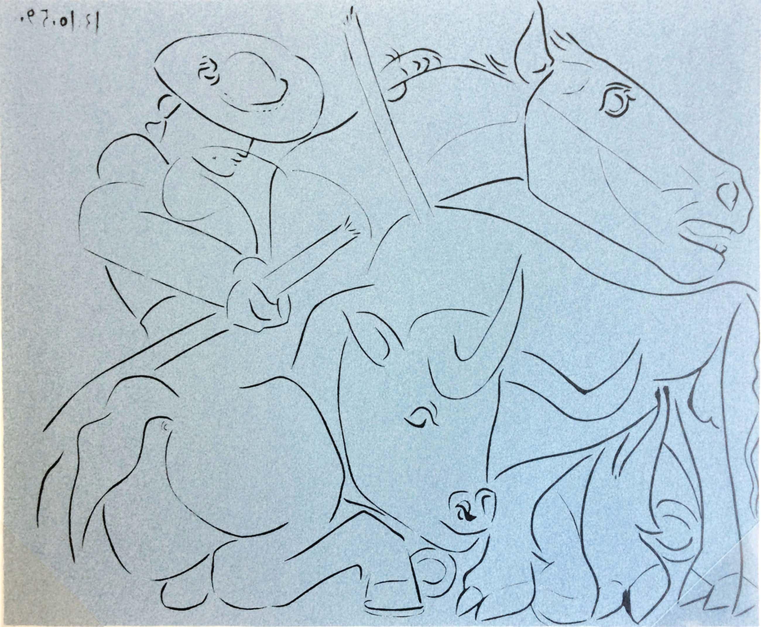LAATSTE KANS! Pablo Picasso - La Pique cassée - linodruk S.P.A.D.E.M. 1962 kopen? Bied vanaf 85!