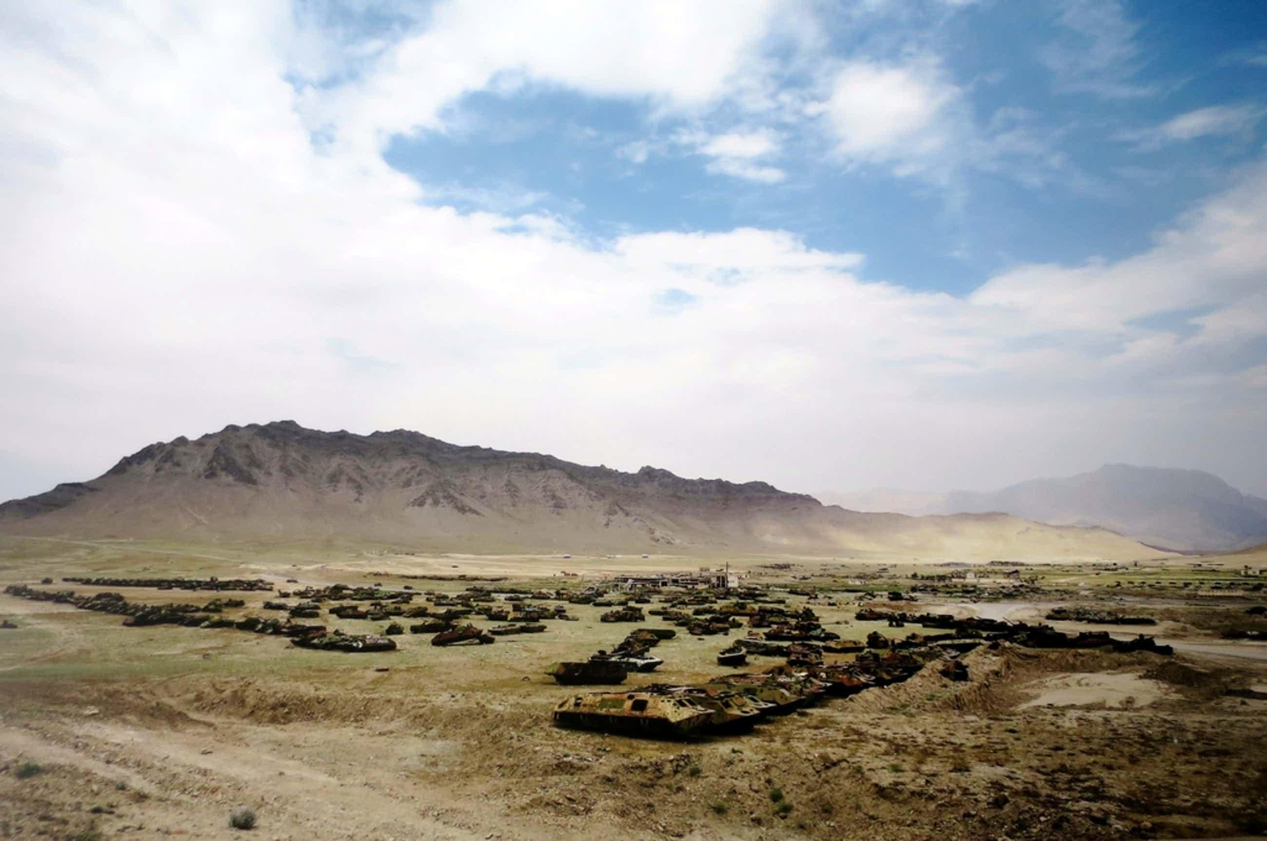 Hans Stakelbeek (1965)   Lambdaprint op Aluminium   Afghanistan - zeer groot! kopen? Bied vanaf 56!