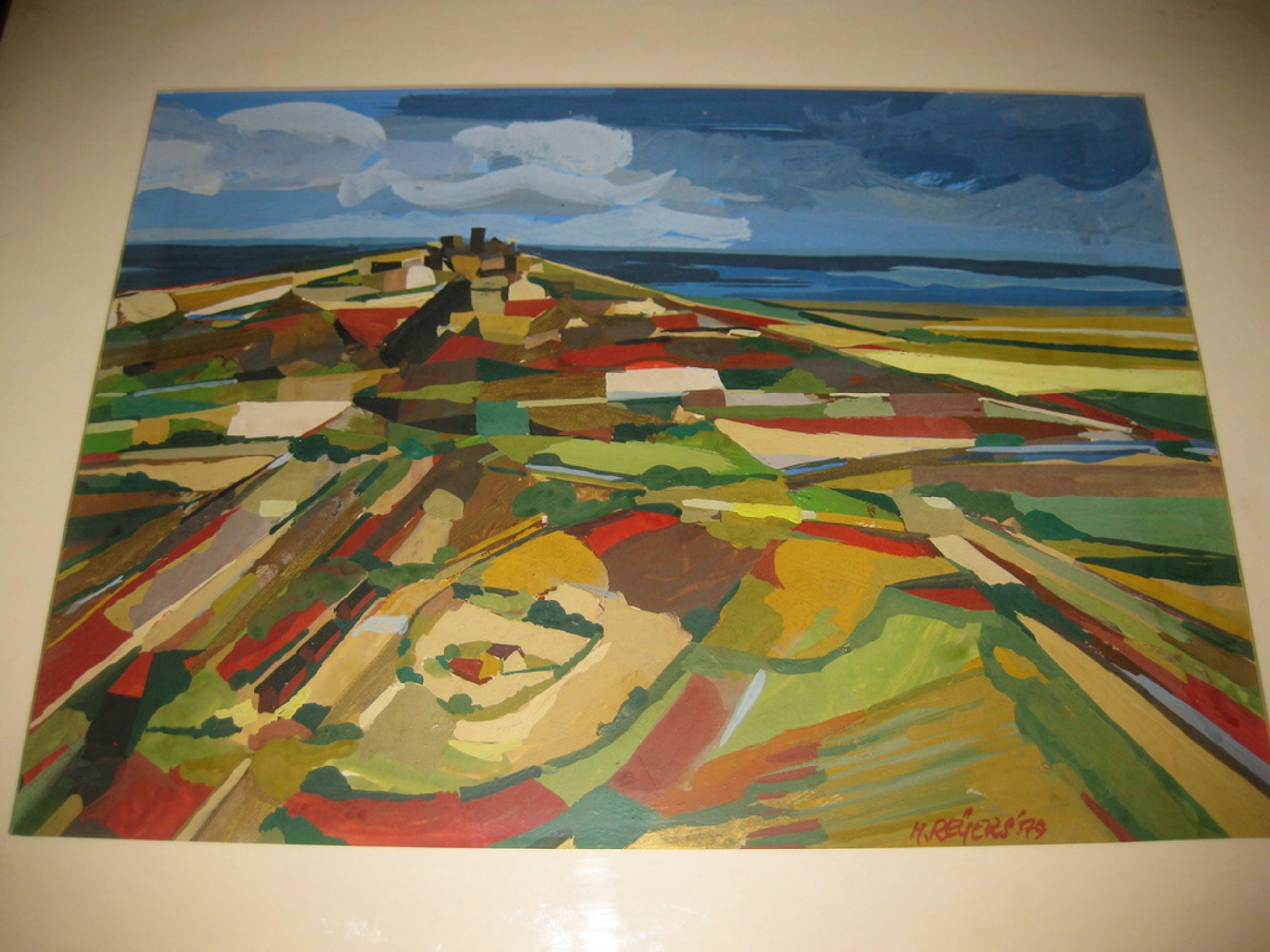 Origineel werk Herman Reijers - schildering op board kopen? Bied vanaf 175!