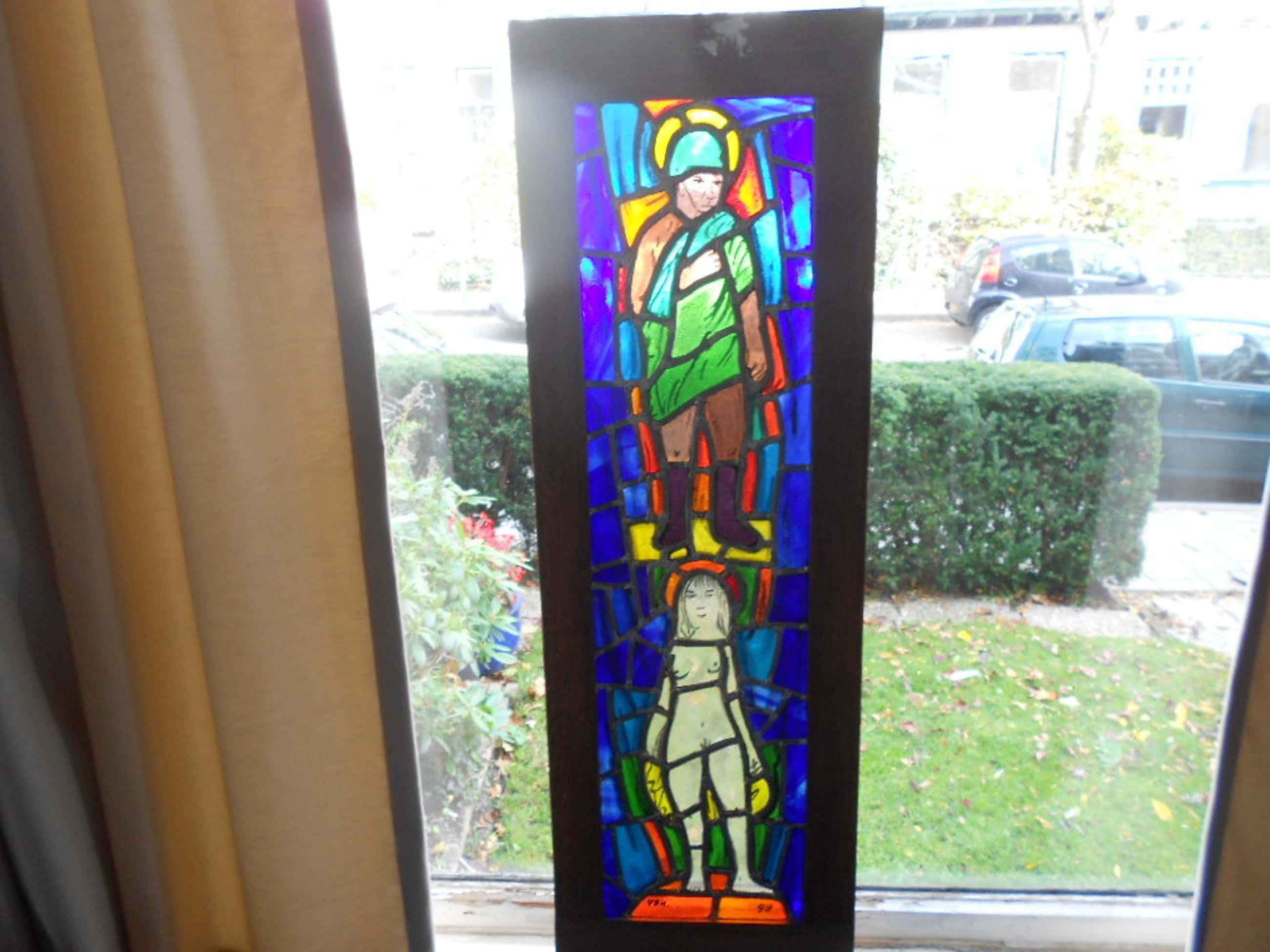 Theo van der horst gebrandschilderd glas in lood raam kopen? Bied vanaf 250!