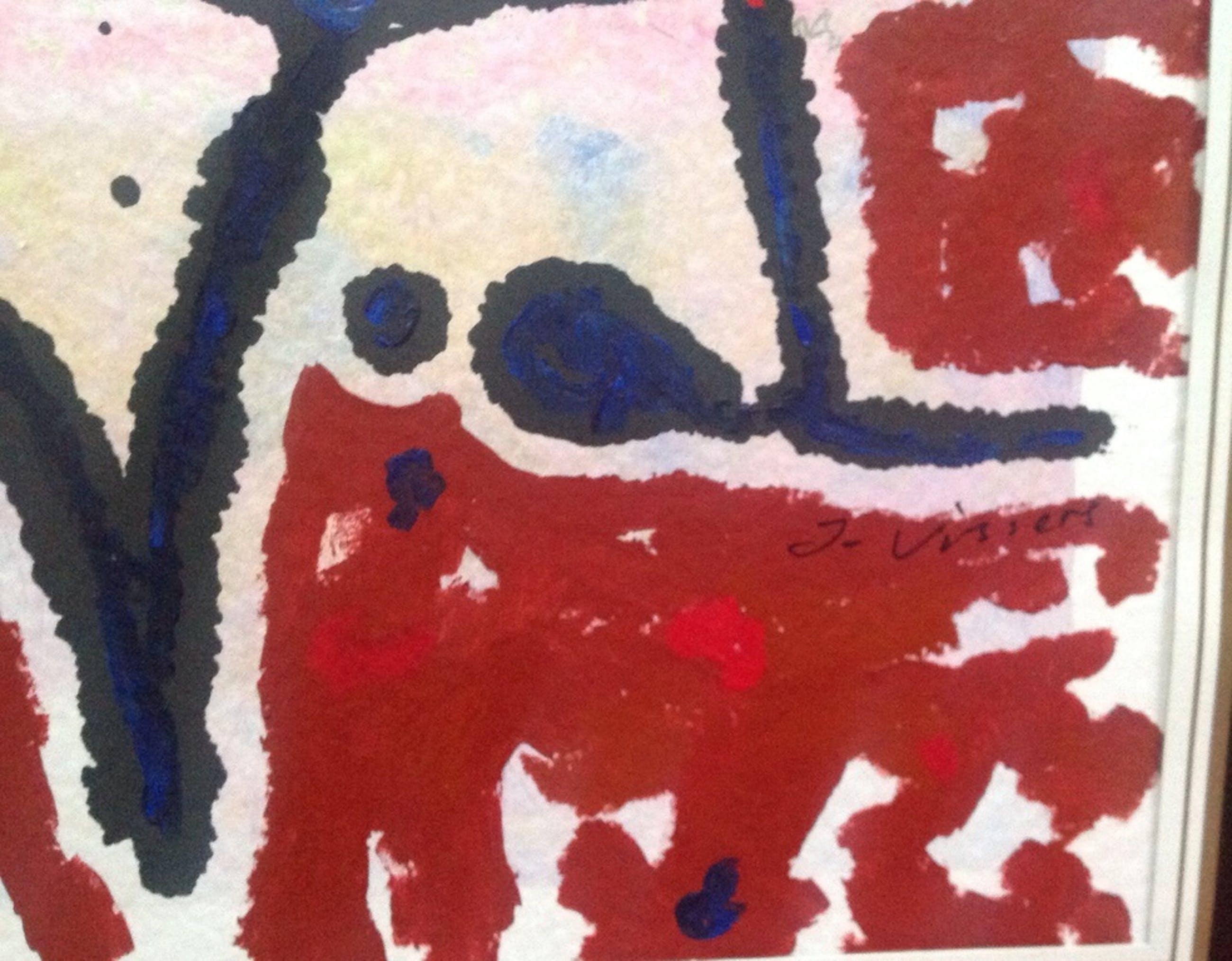 Jack Vissers: acryl op papier, abstracte constellatie kopen? Bied vanaf 10!