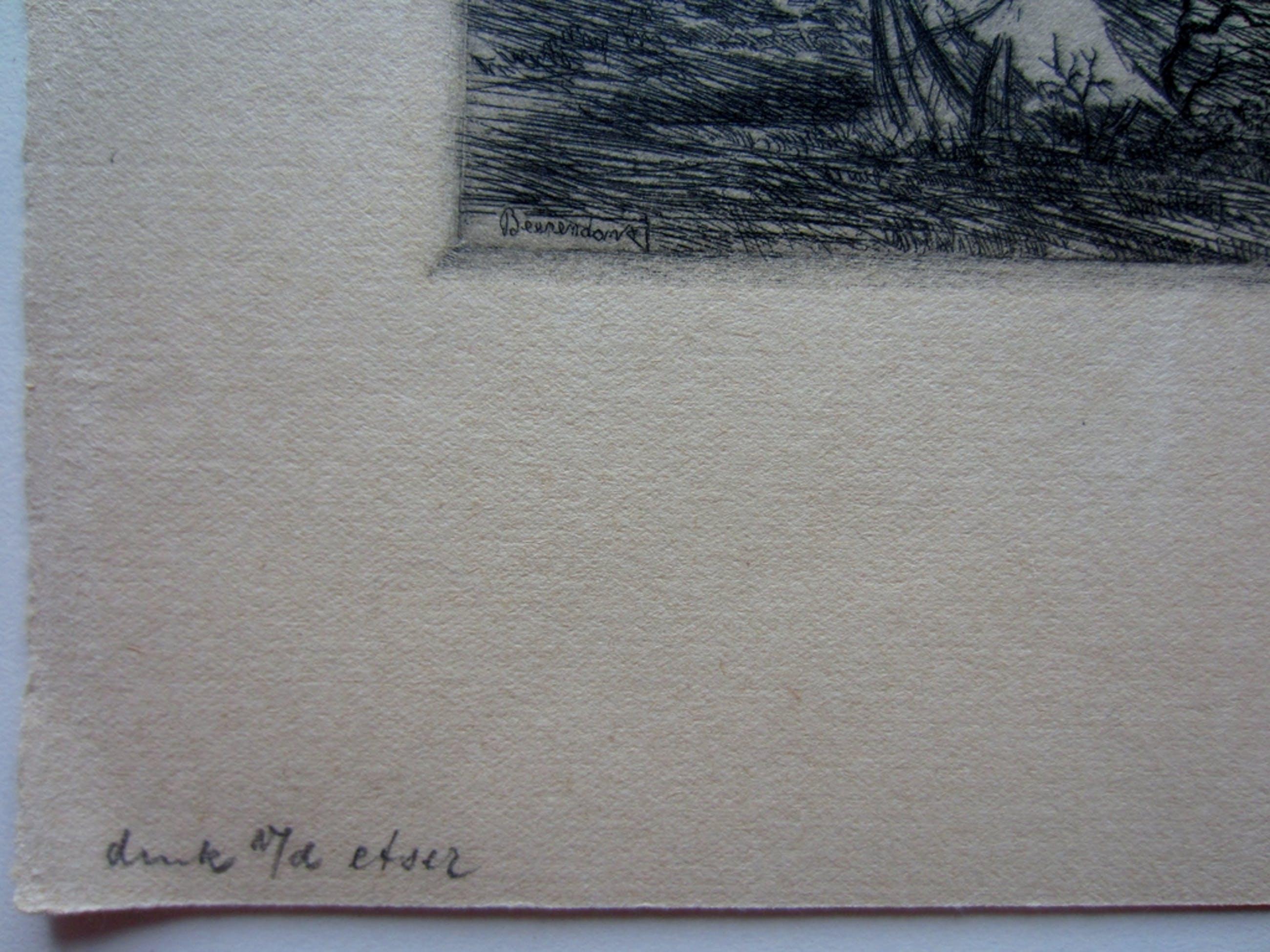Theo Beerendonk (1905-1979) - ets Vondelpark te Amsterdam kopen? Bied vanaf 45!