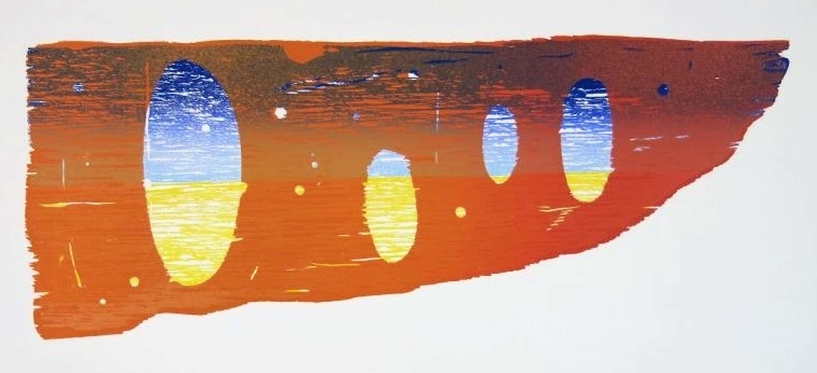 Joris Geurts: Houtsnede, Compositie oranje kopen? Bied vanaf 35!