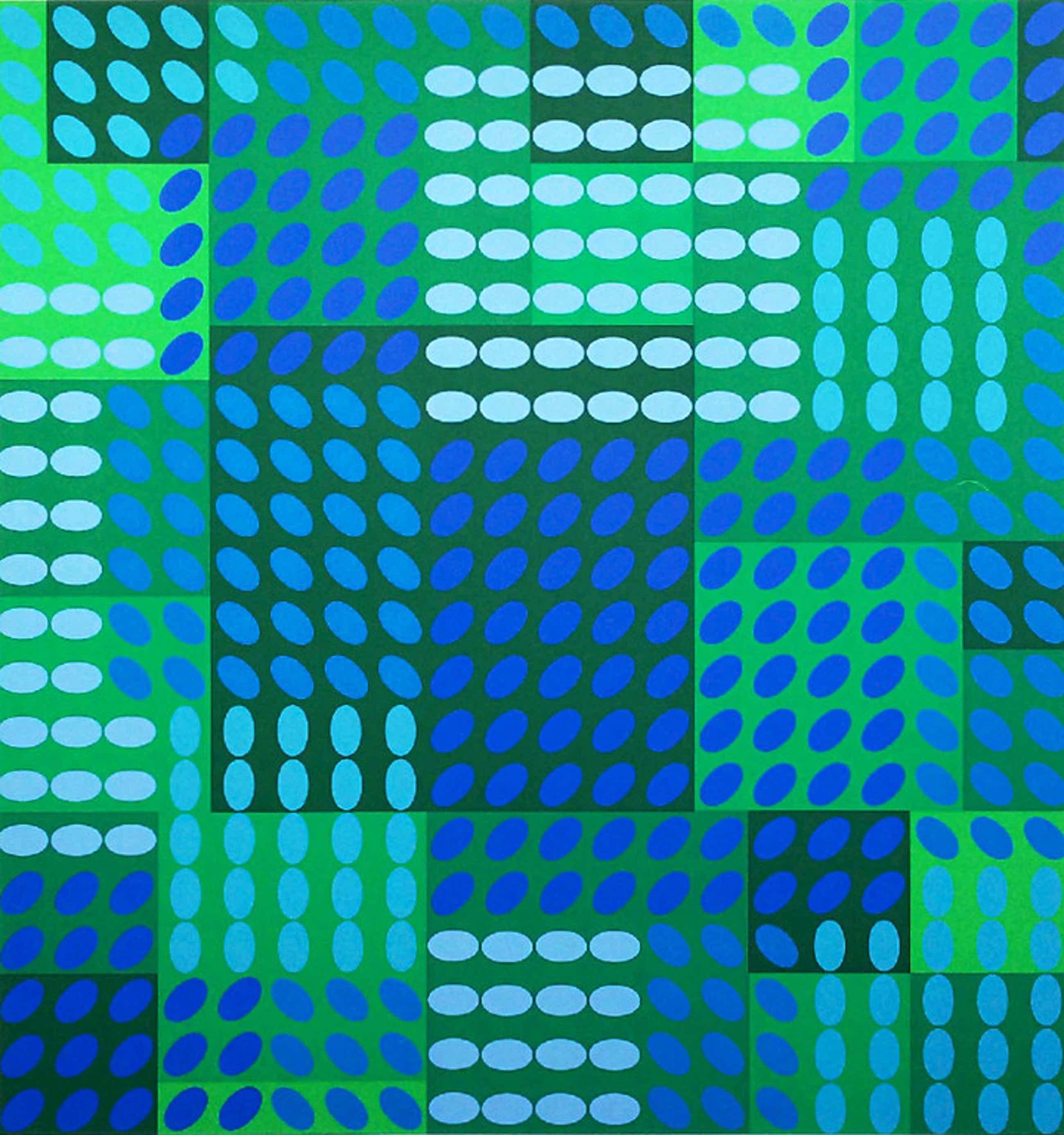 Victor Vasarely - Geometrisch abstract, zeefdruk kopen? Bied vanaf 185!
