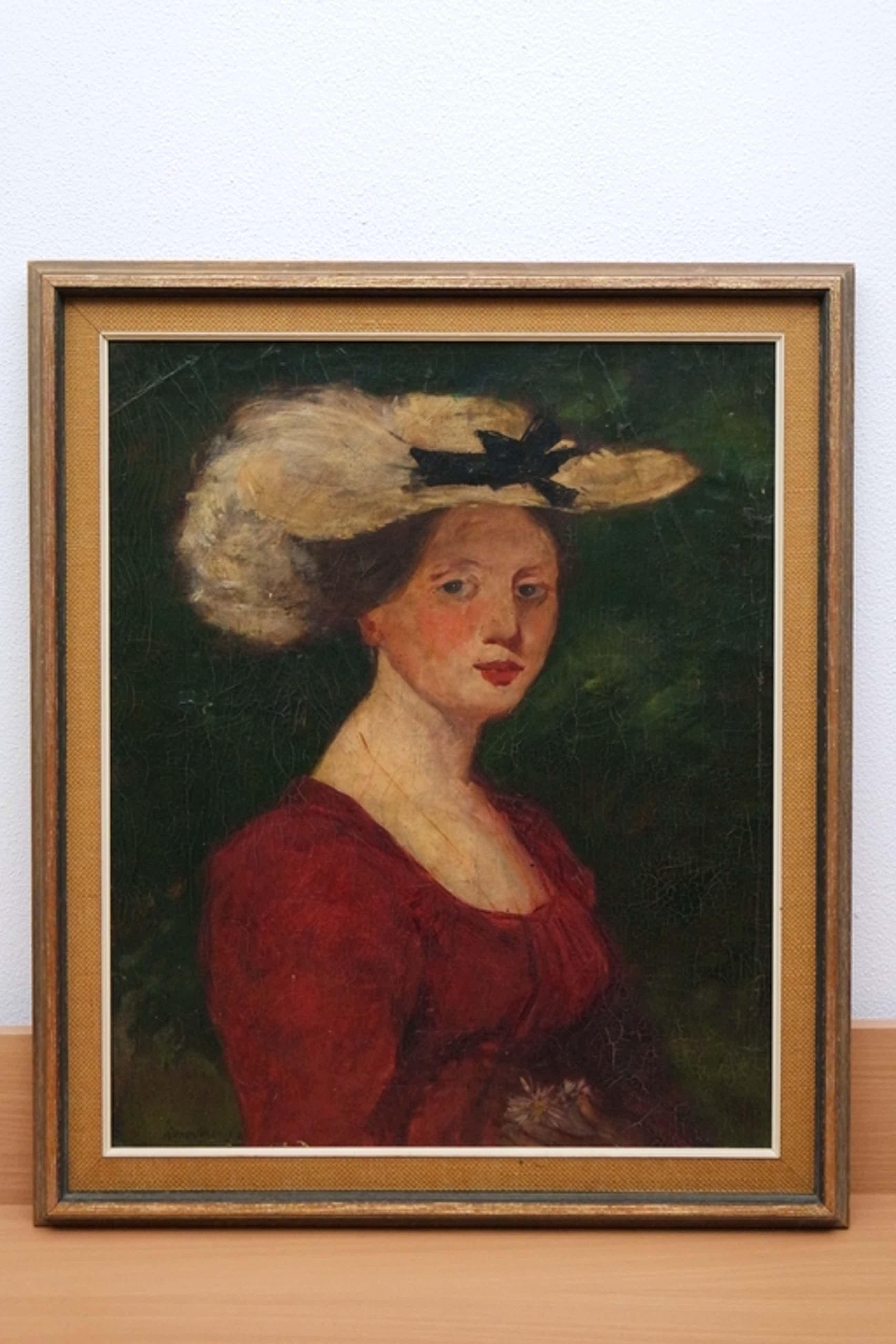 Simon Willem Maris (1873-1935) -olieverf op doek- portret van een vrouw met hoed kopen? Bied vanaf 825!