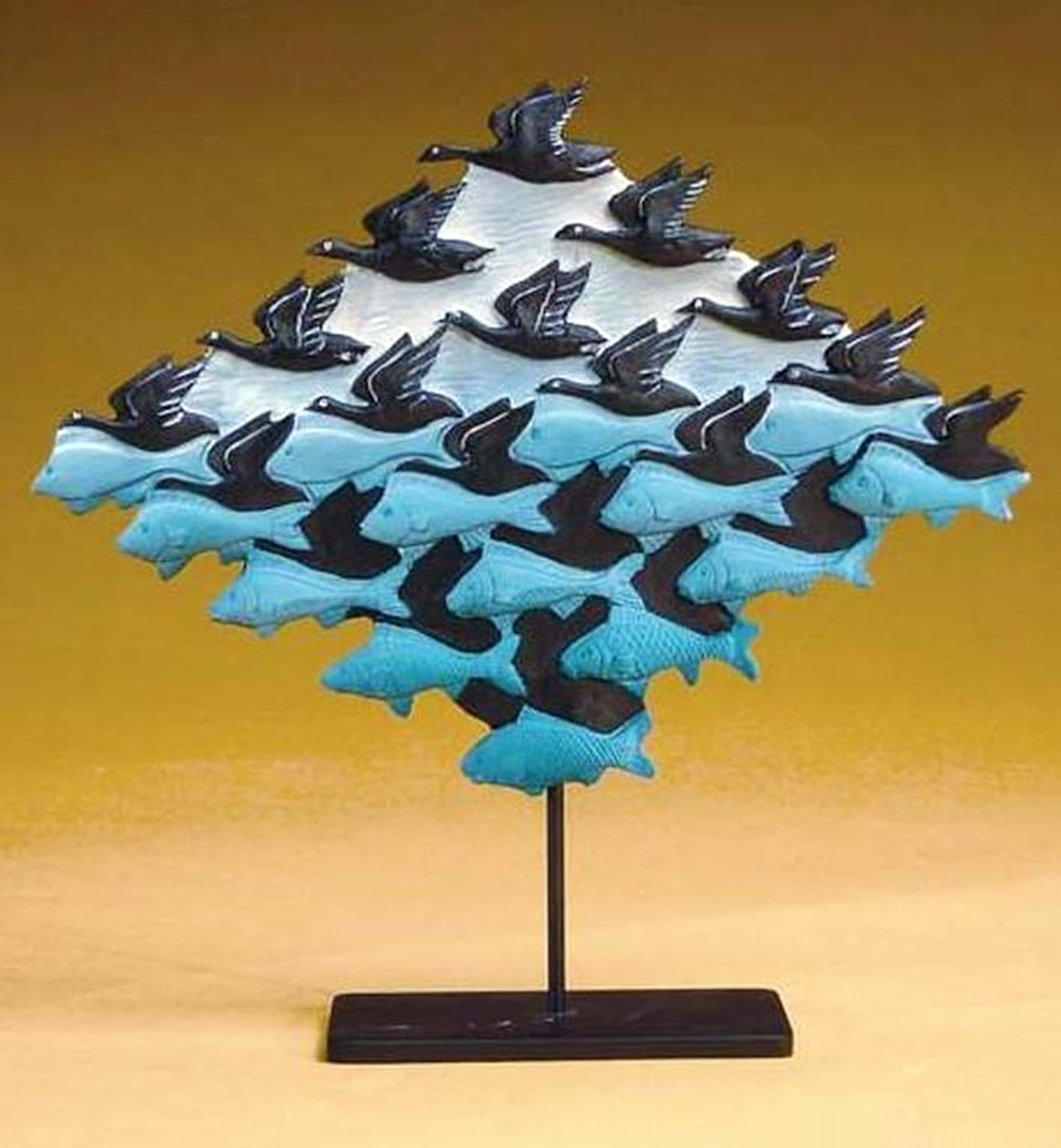 MC ESCHER, 3D-sculpture: Lucht en water kopen? Bied vanaf 55!