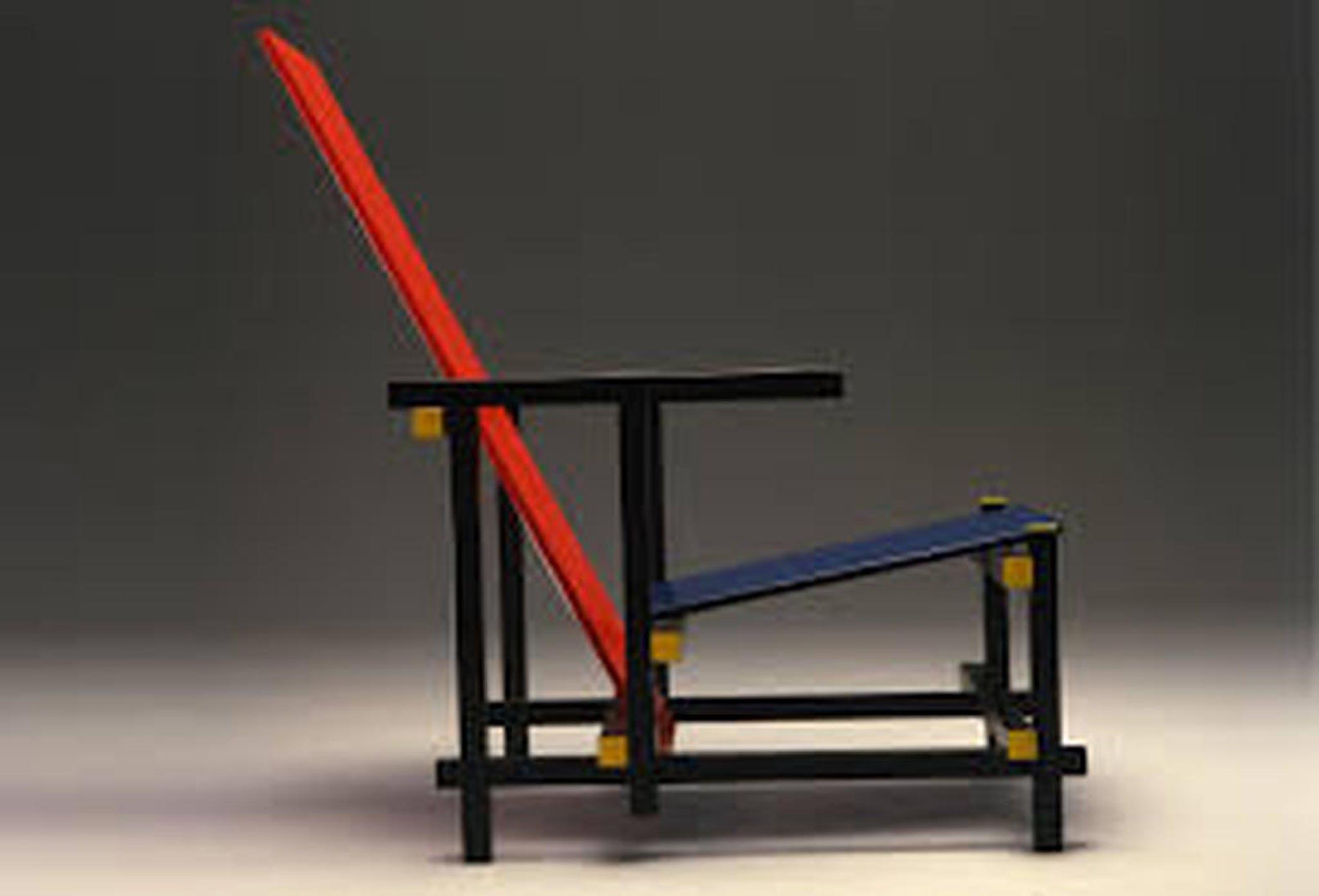 Stoel Gerrit Rietveld : Gerrit rietveld exacte replica van de rood blauwe stoel verkocht