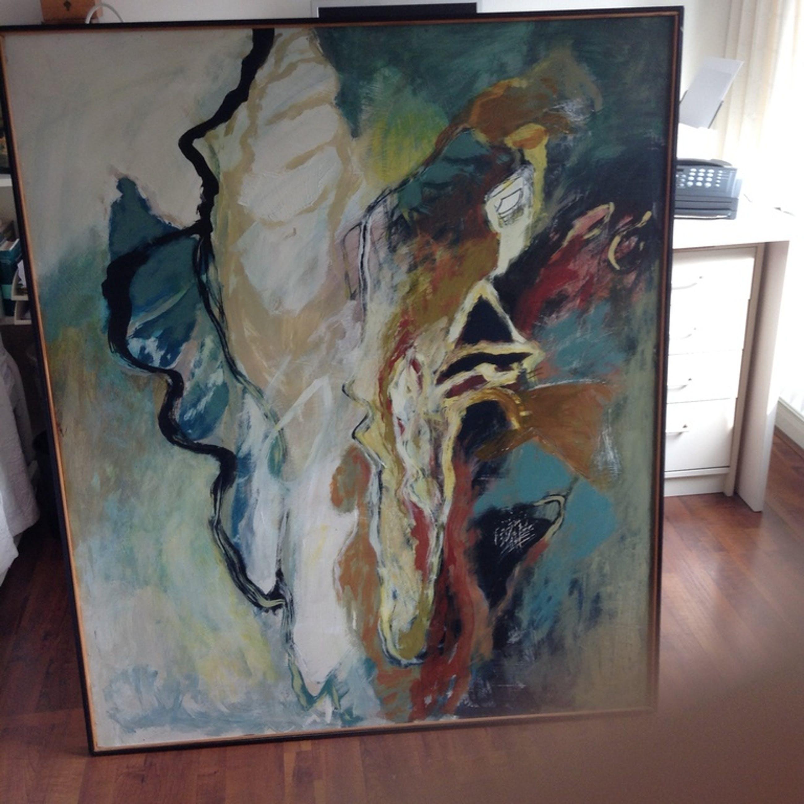 Bert Braam - Acryl op hout - Marokko Adieu 123,5 x 103,5cm kopen? Bied vanaf 500!