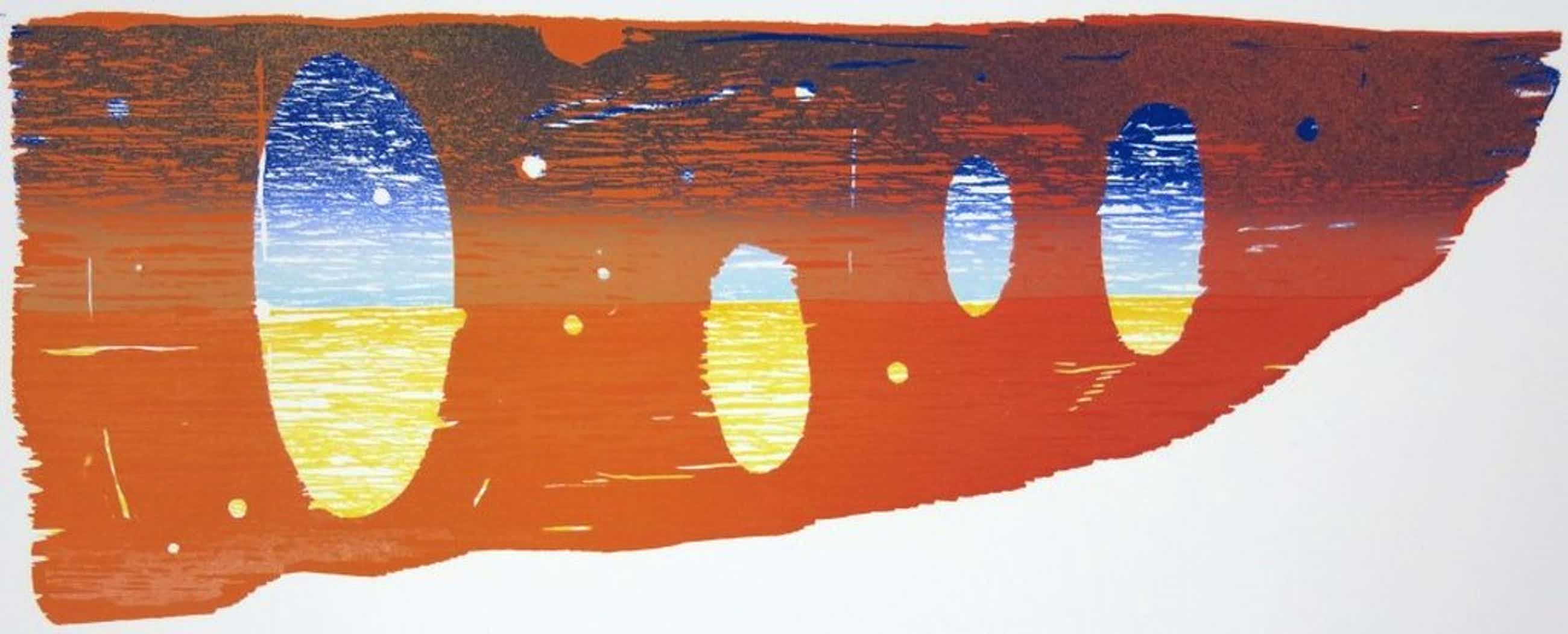 Joris Geurts: Houtsnede, Compositie oranje kopen? Bied vanaf 51!