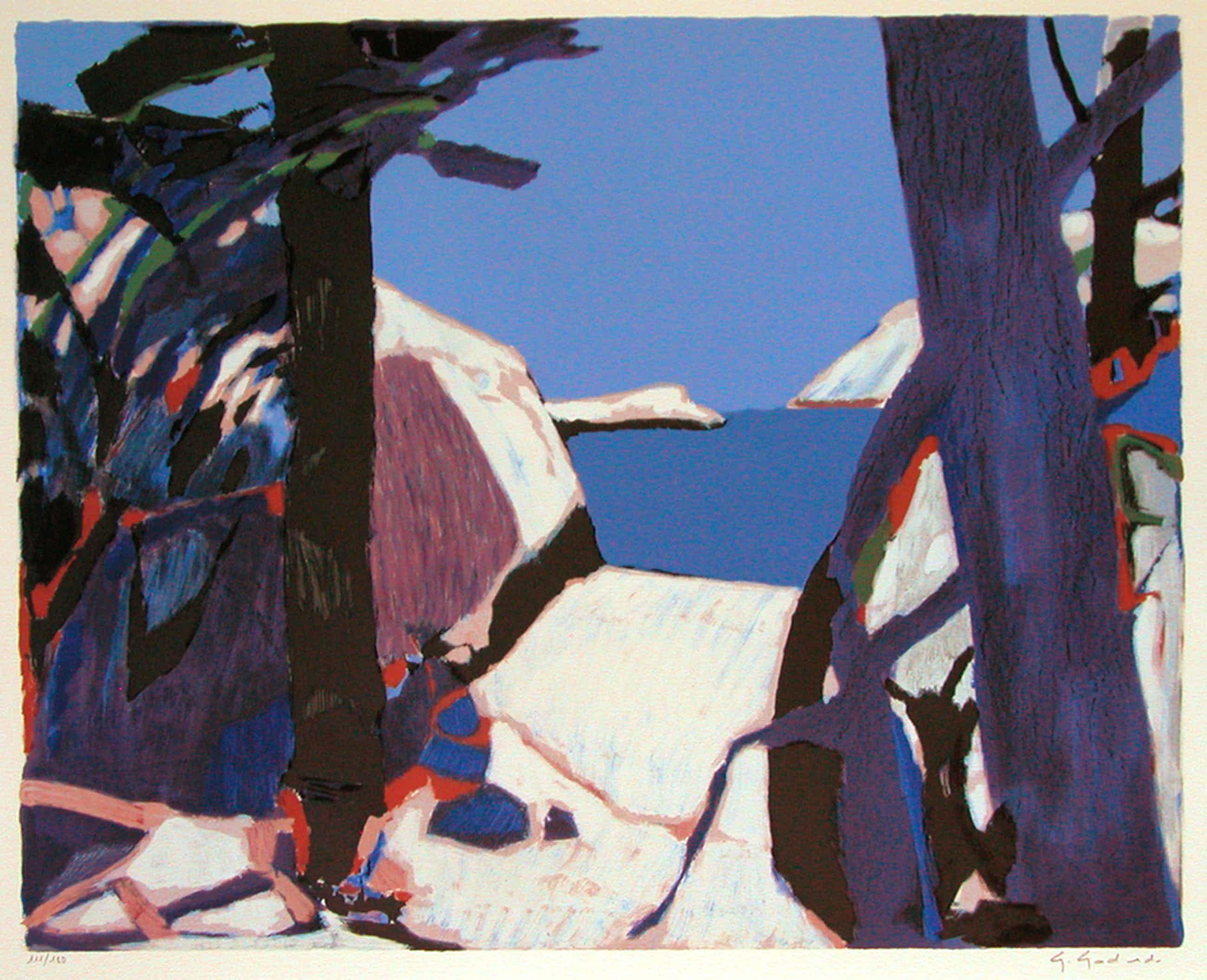 "GABRIEL GODARD, originele litho 'Provence"" handgesigneerd  kopen? Bied vanaf 85!"
