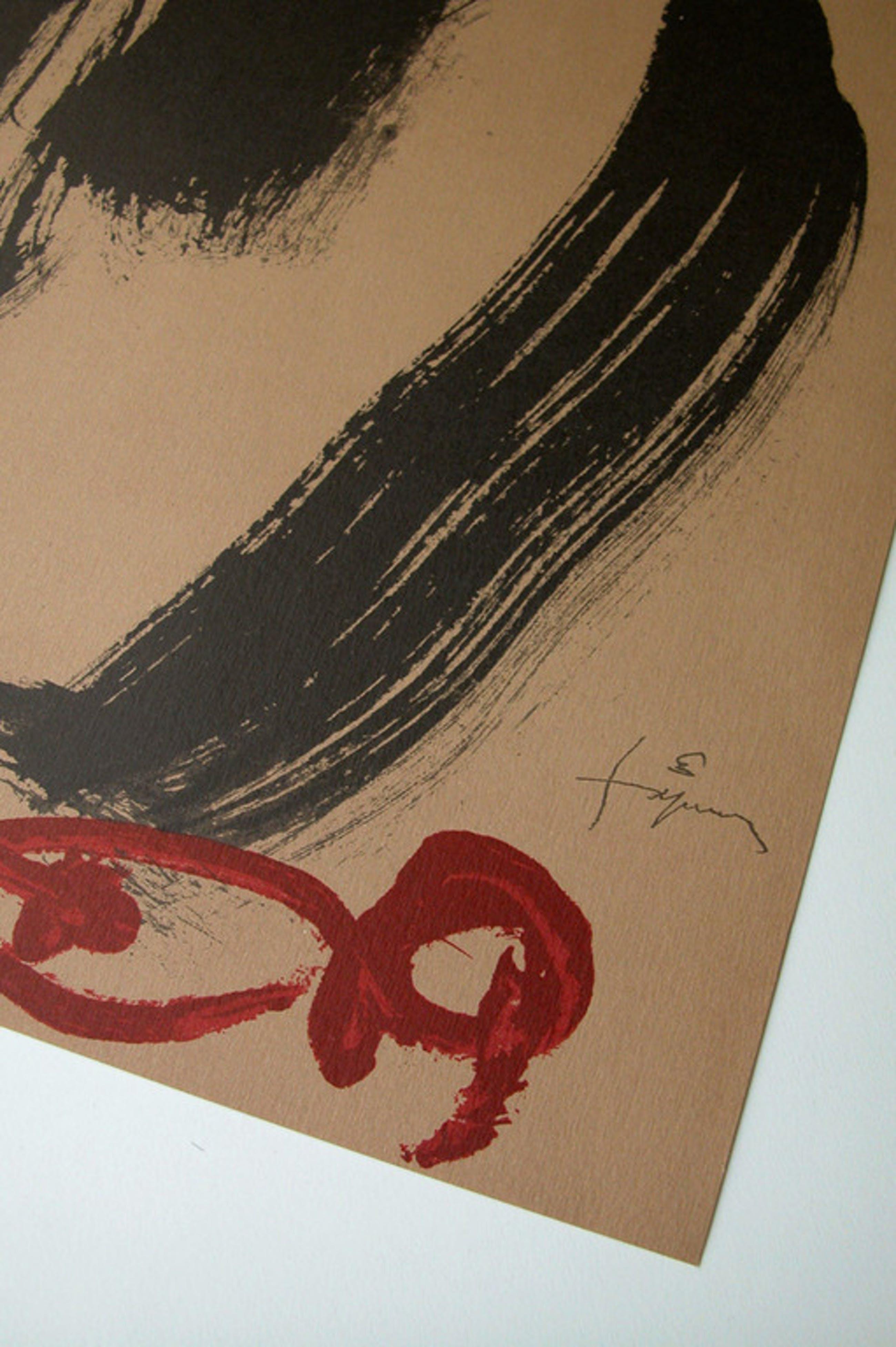 Antoni Tapies, 'Creu i M', lithografie, 1999, handgenummerd, ed. 1000  kopen? Bied vanaf 75!