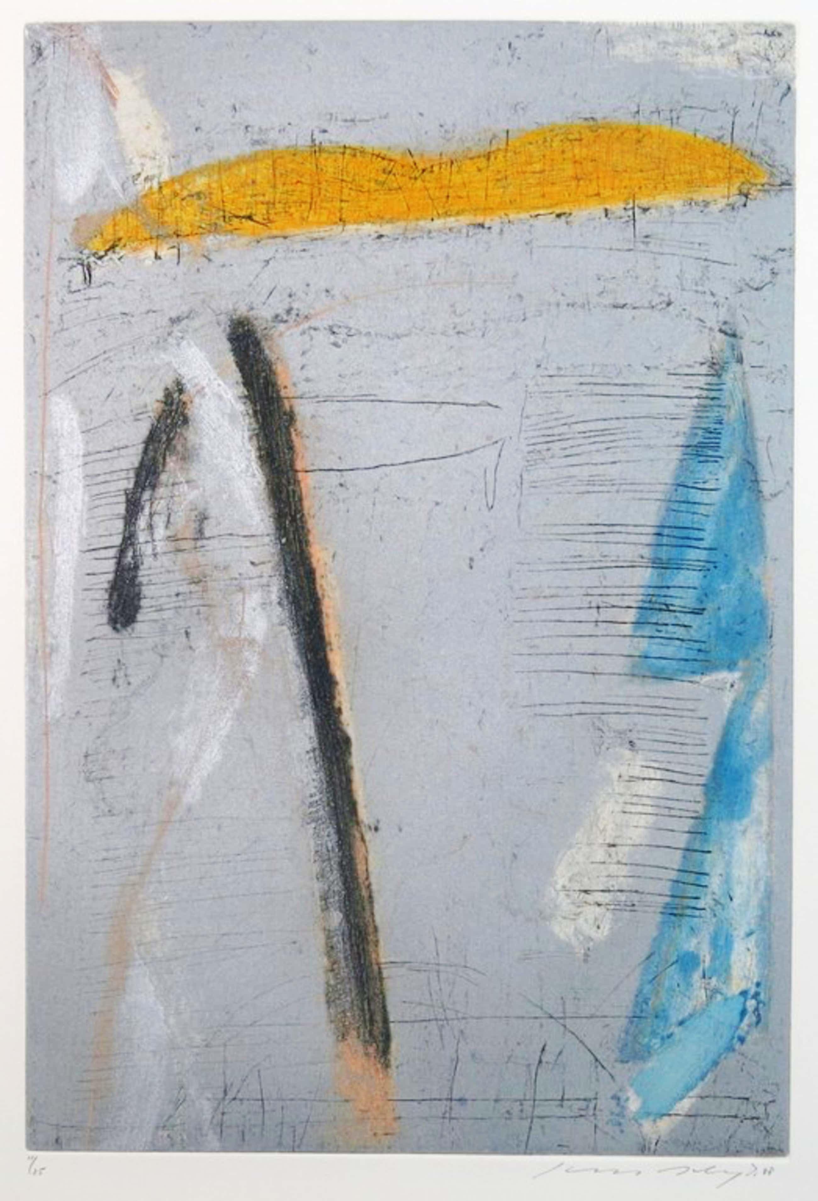 Kees Slegt: Ets, Abstracte compositie kopen? Bied vanaf 40!