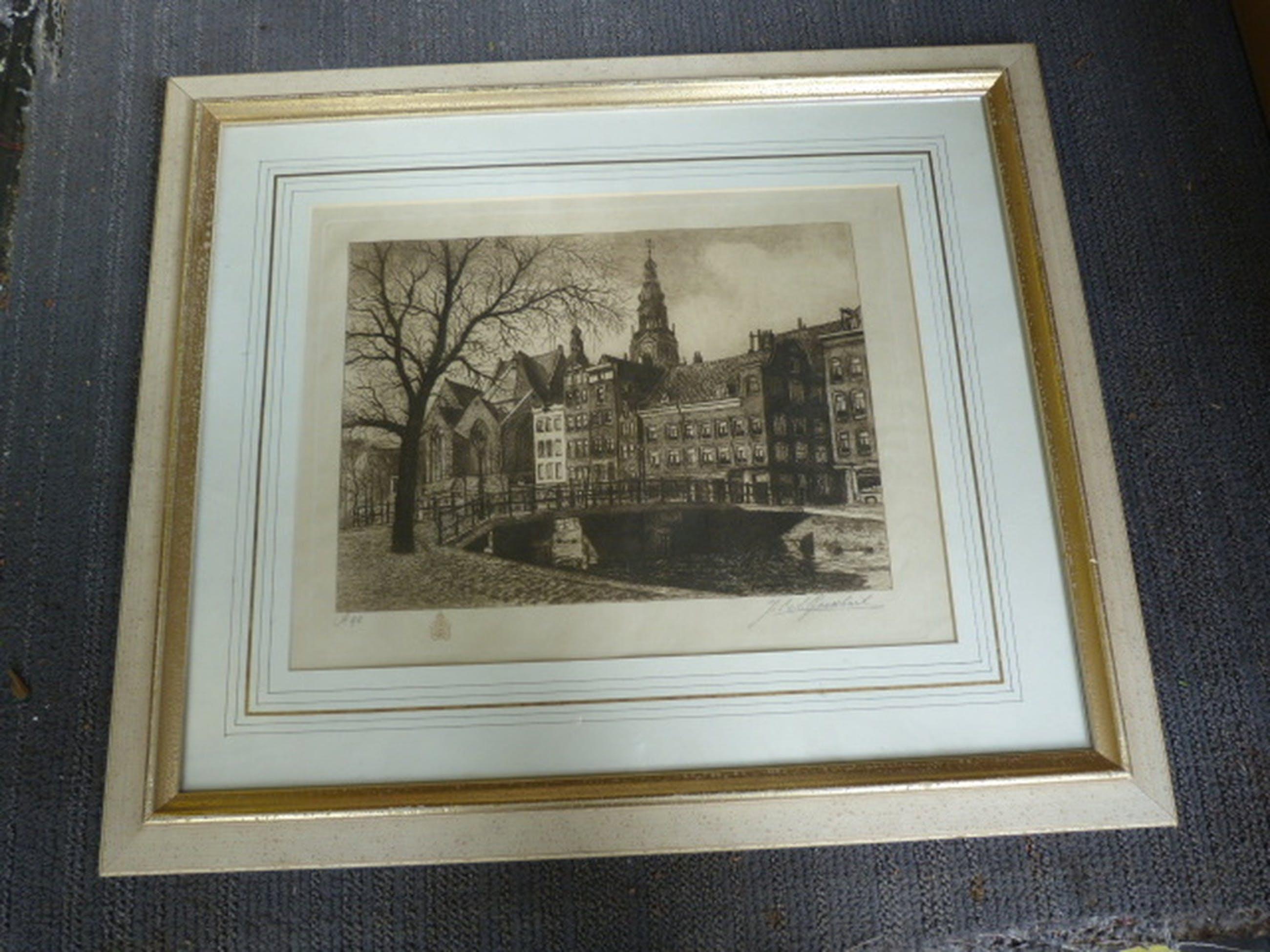 Amsterdam - Oudekerksplein -  ets. kopen? Bied vanaf 40!