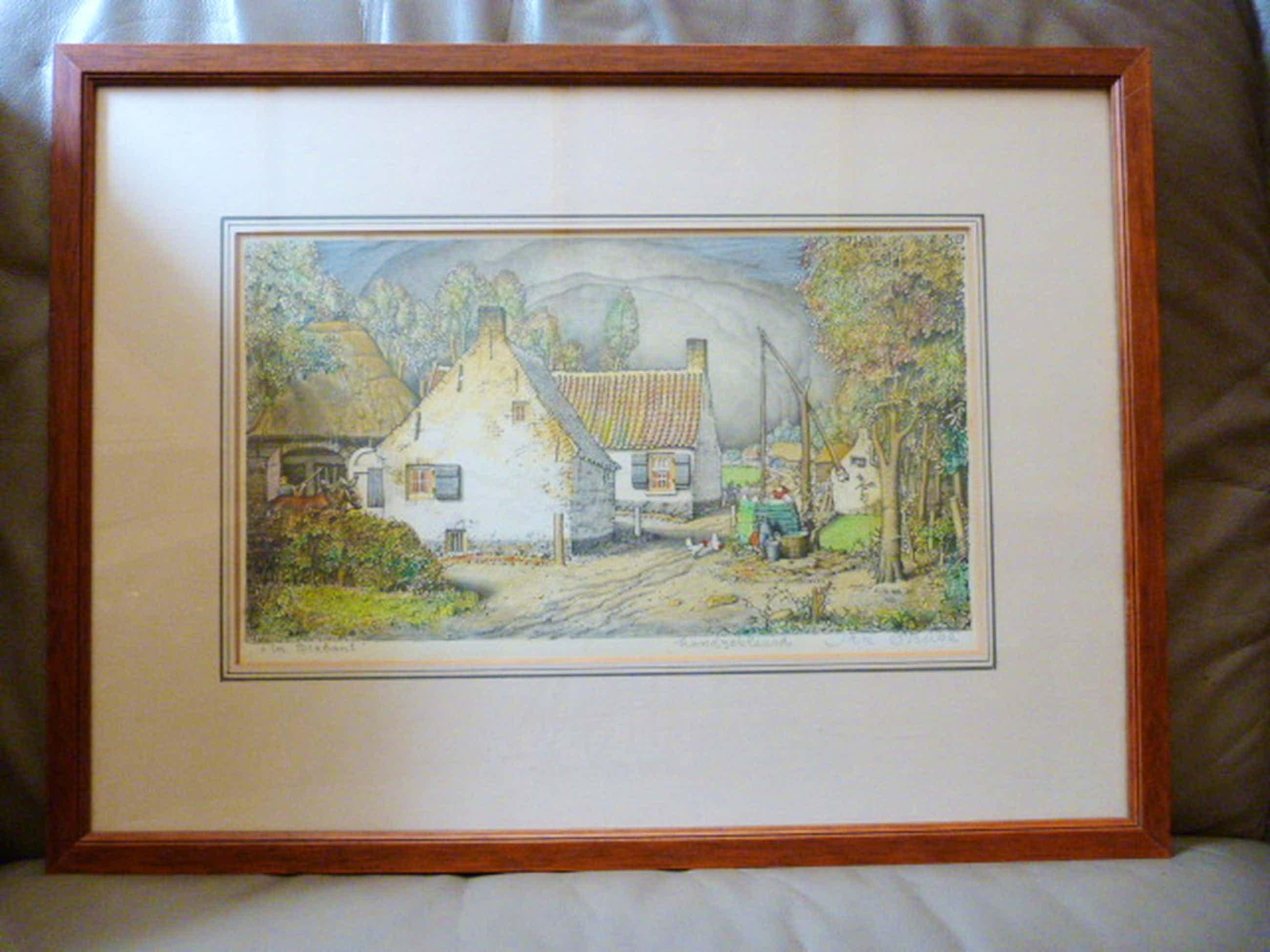 Jan Strube ( 1892 - 1985 ) - handgekleurde litho. kopen? Bied vanaf 45!
