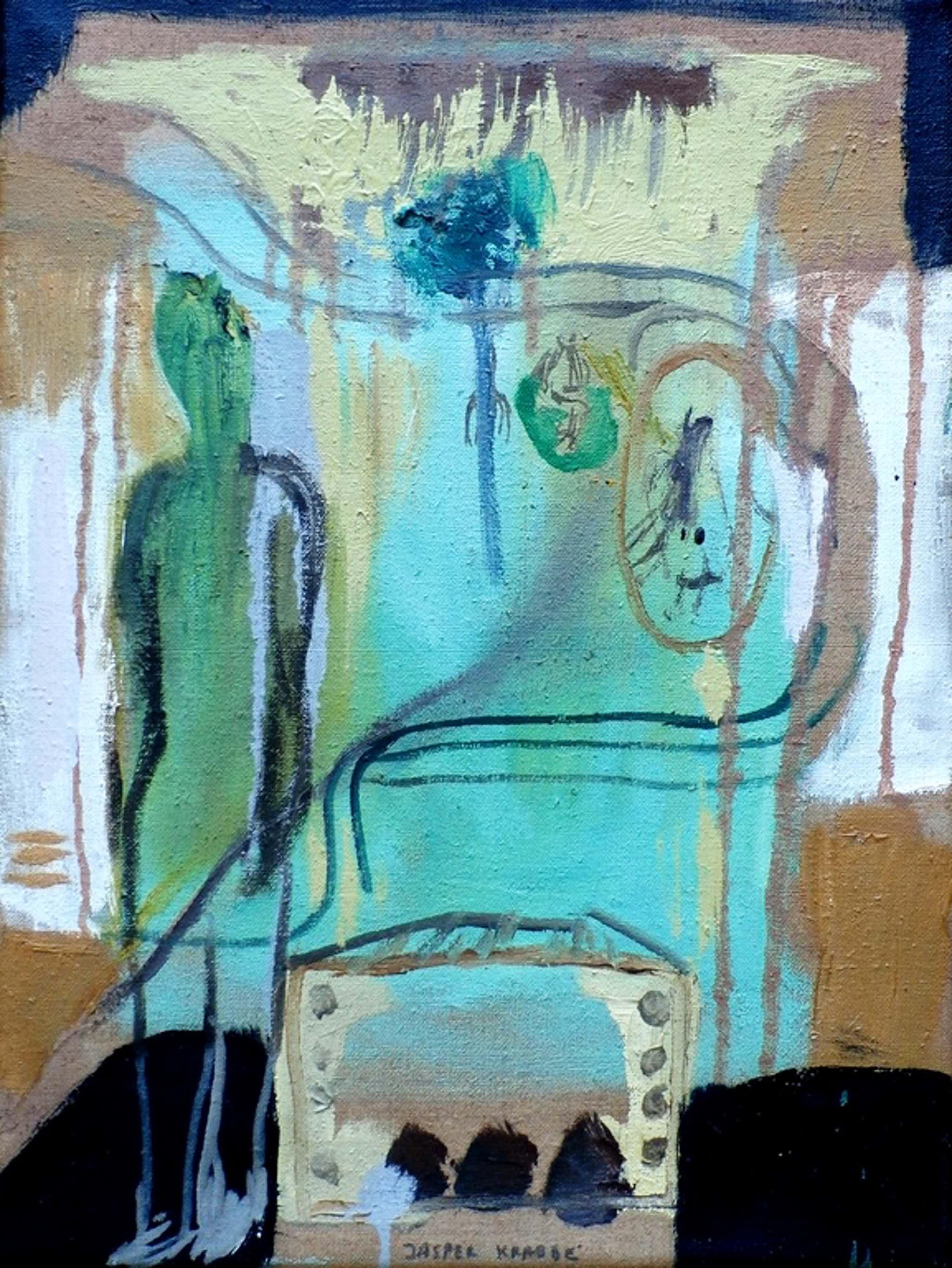 Jasper Krabbe - acrylverf op doek - 1995 kopen? Bied vanaf 1000!