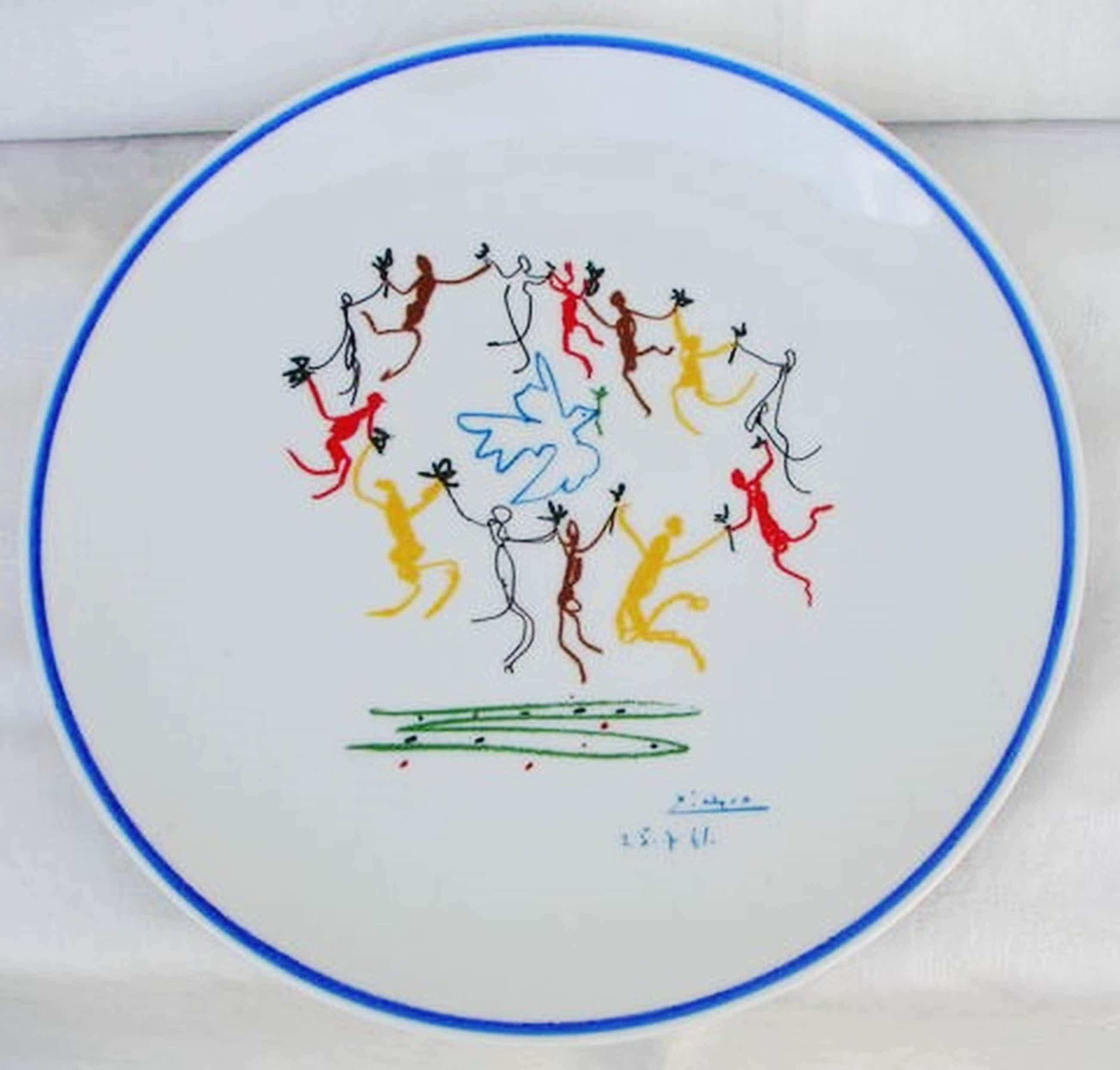 Pablo Picasso - Ronda de la juventud - genummerd Limoges porselein kopen? Bied vanaf 100!