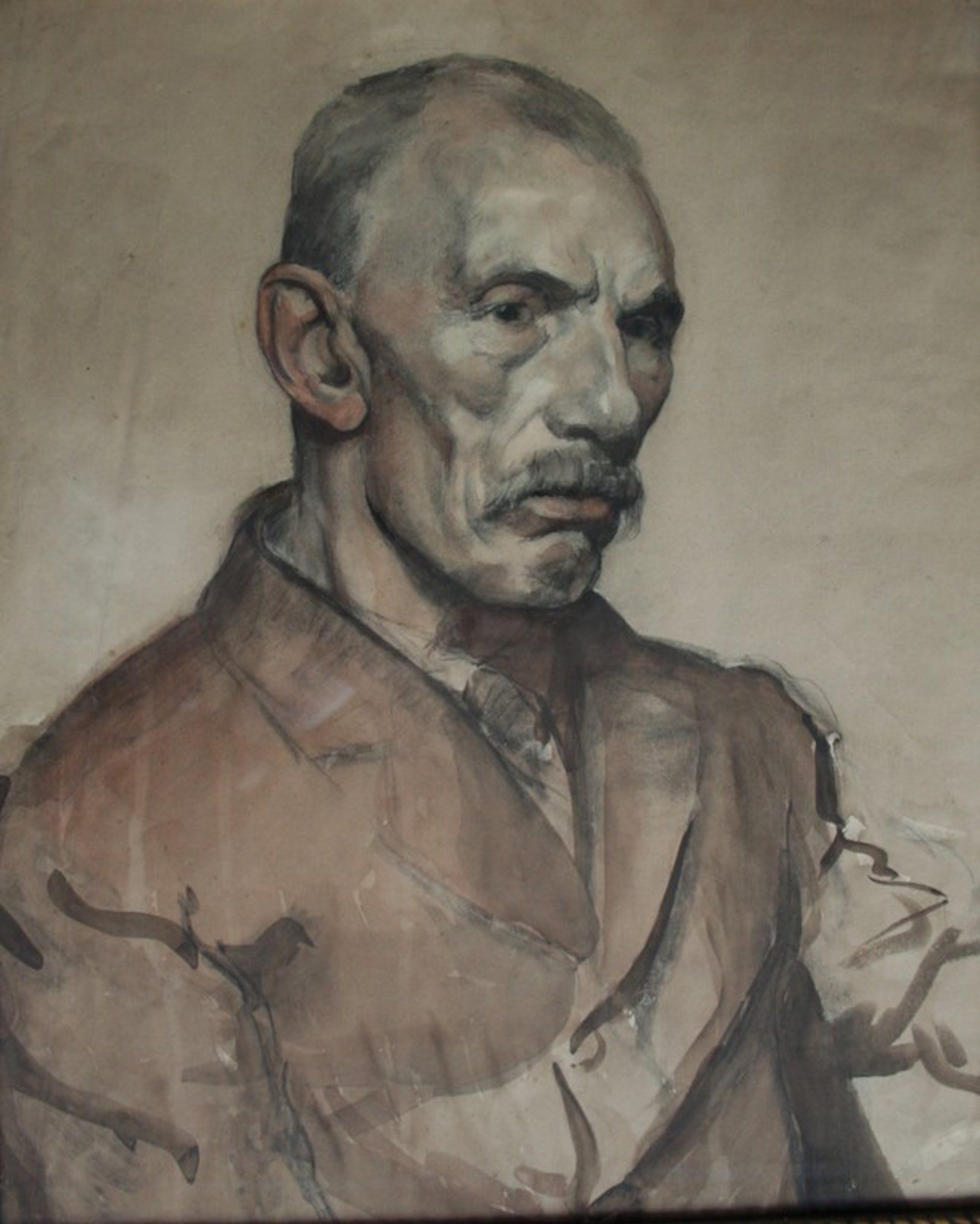 Gerard Hendrik Grauss (1882-1929), tekening / aquarel, portret van een arbeider kopen? Bied vanaf 90!