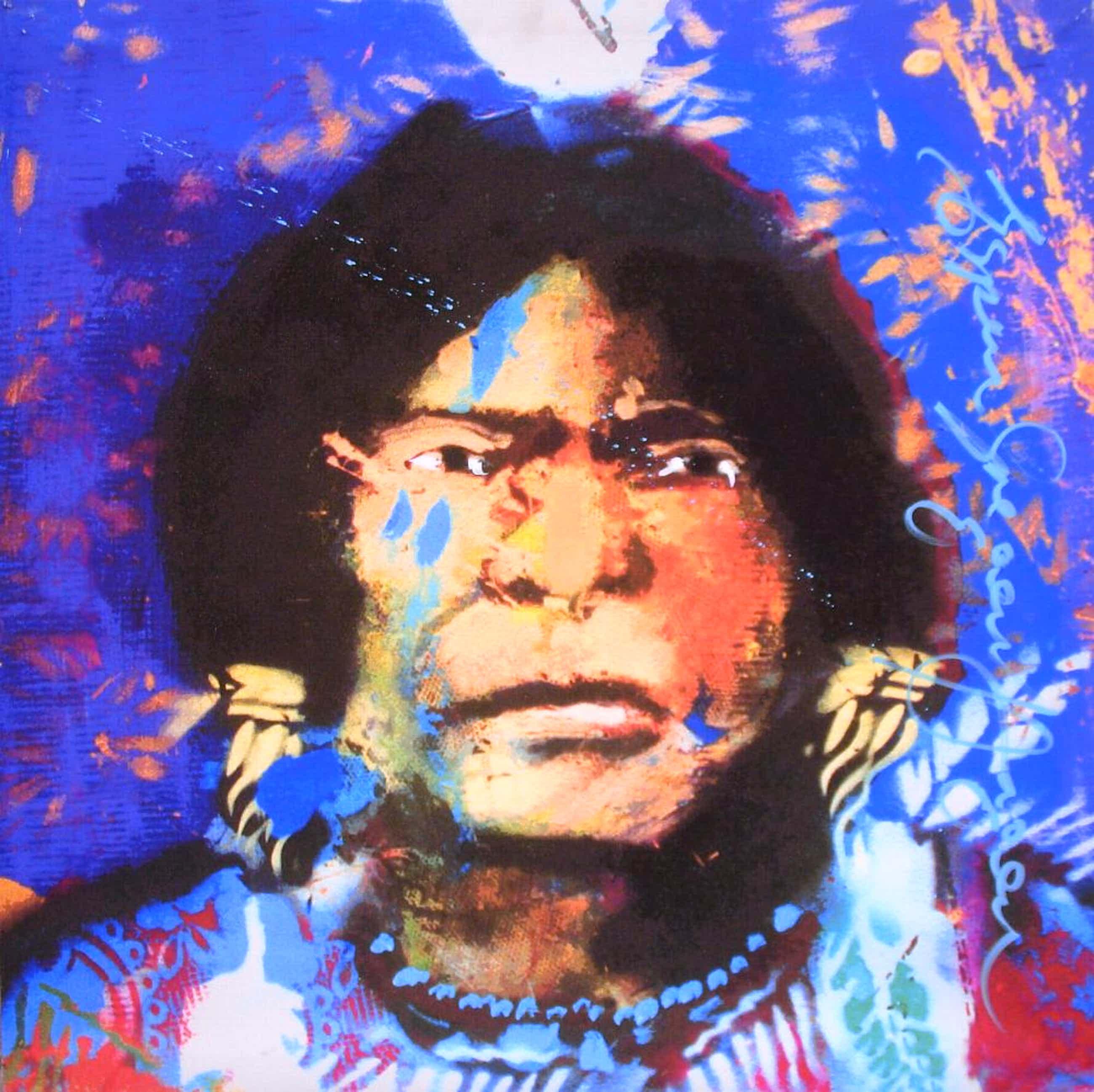Espen Hagen - Neteca Indian - Handgesigneerde Giclee op linnen (90x90 cm.) kopen? Bied vanaf 35!