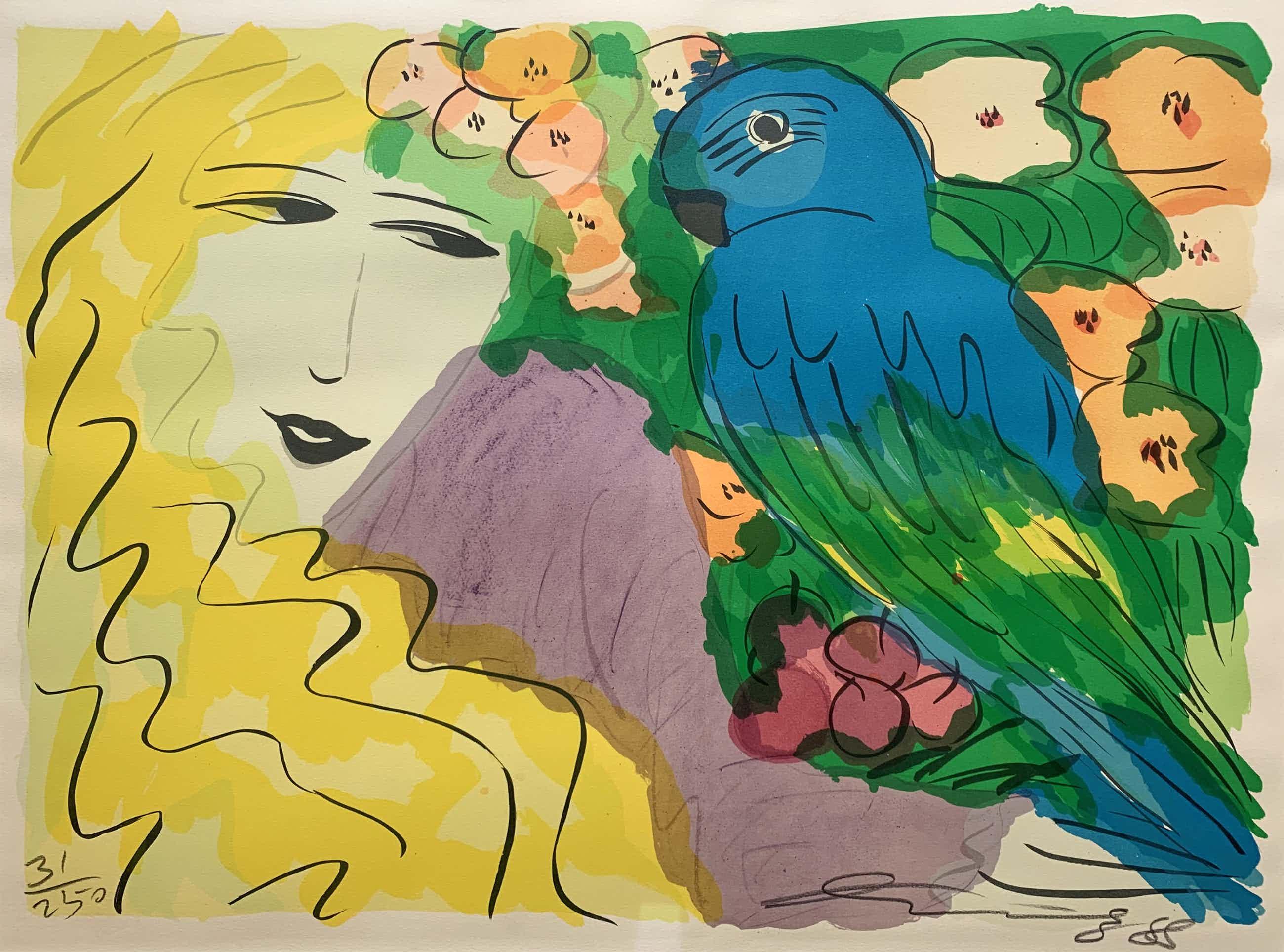 Walasse Ting - kleurenlitho - 'Venus and ara' - 1988 kopen? Bied vanaf 500!