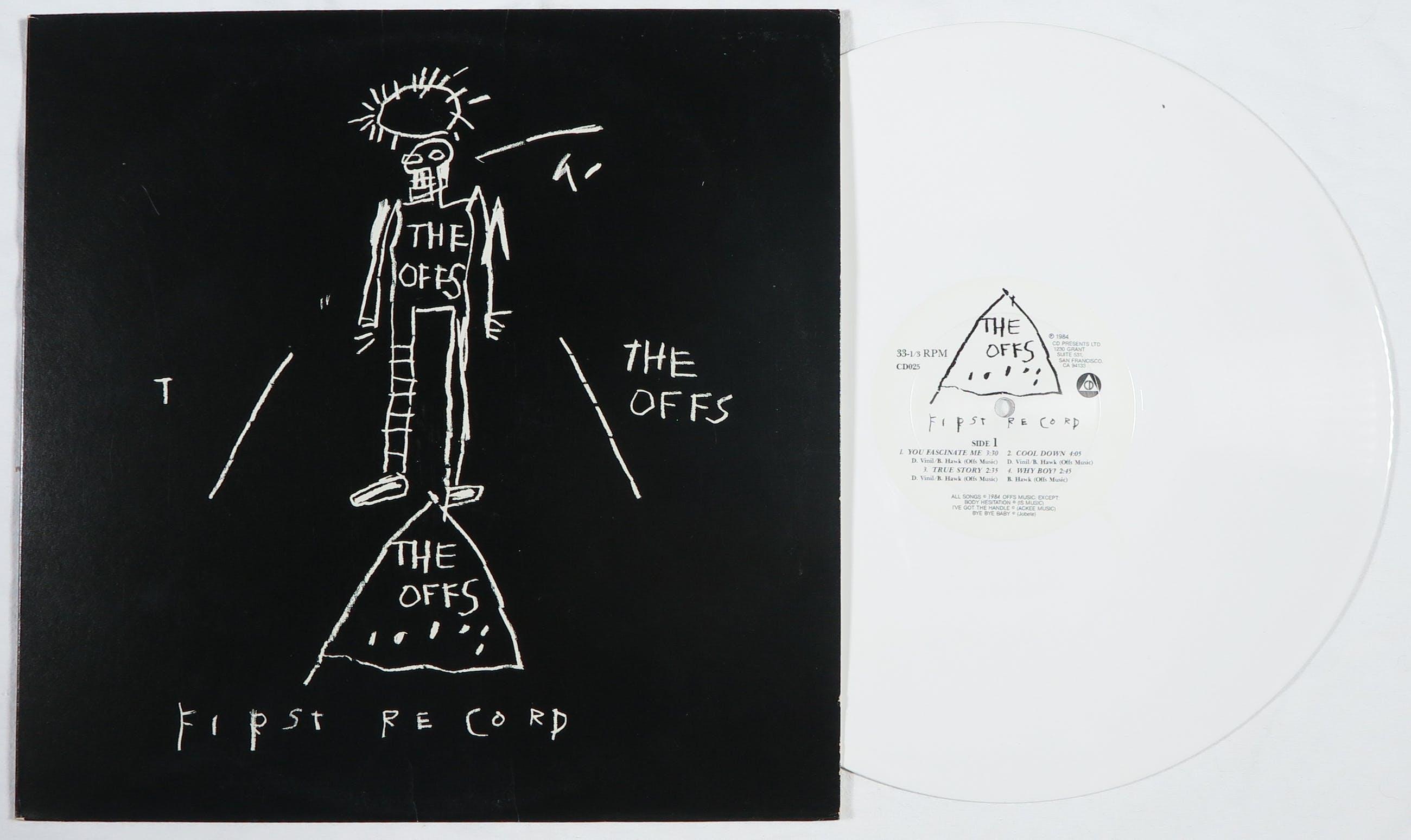 Jean-Michel Basquiat - LP-hoes, The Offs: First Record (originele White Vinyl pressing) kopen? Bied vanaf 1!