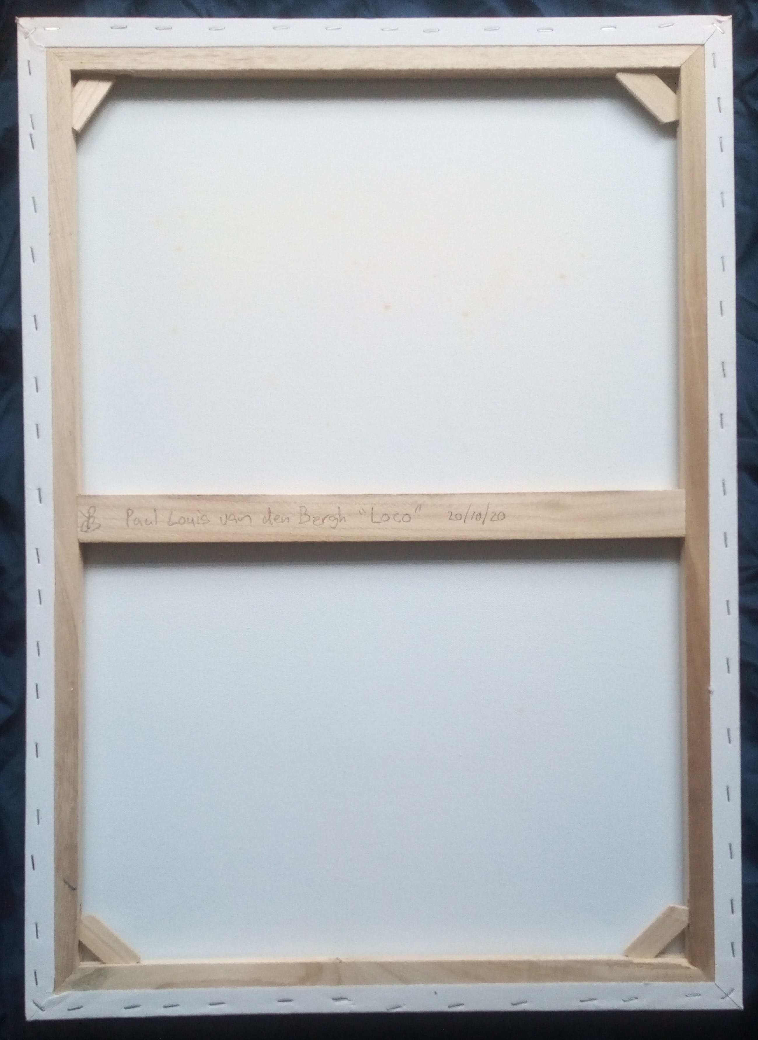 """Paul Louis Van Den Bergh - Gemengde Techniek op Canvas - """"Loco"""" - Gesigneerd kopen? Bied vanaf 90!"""