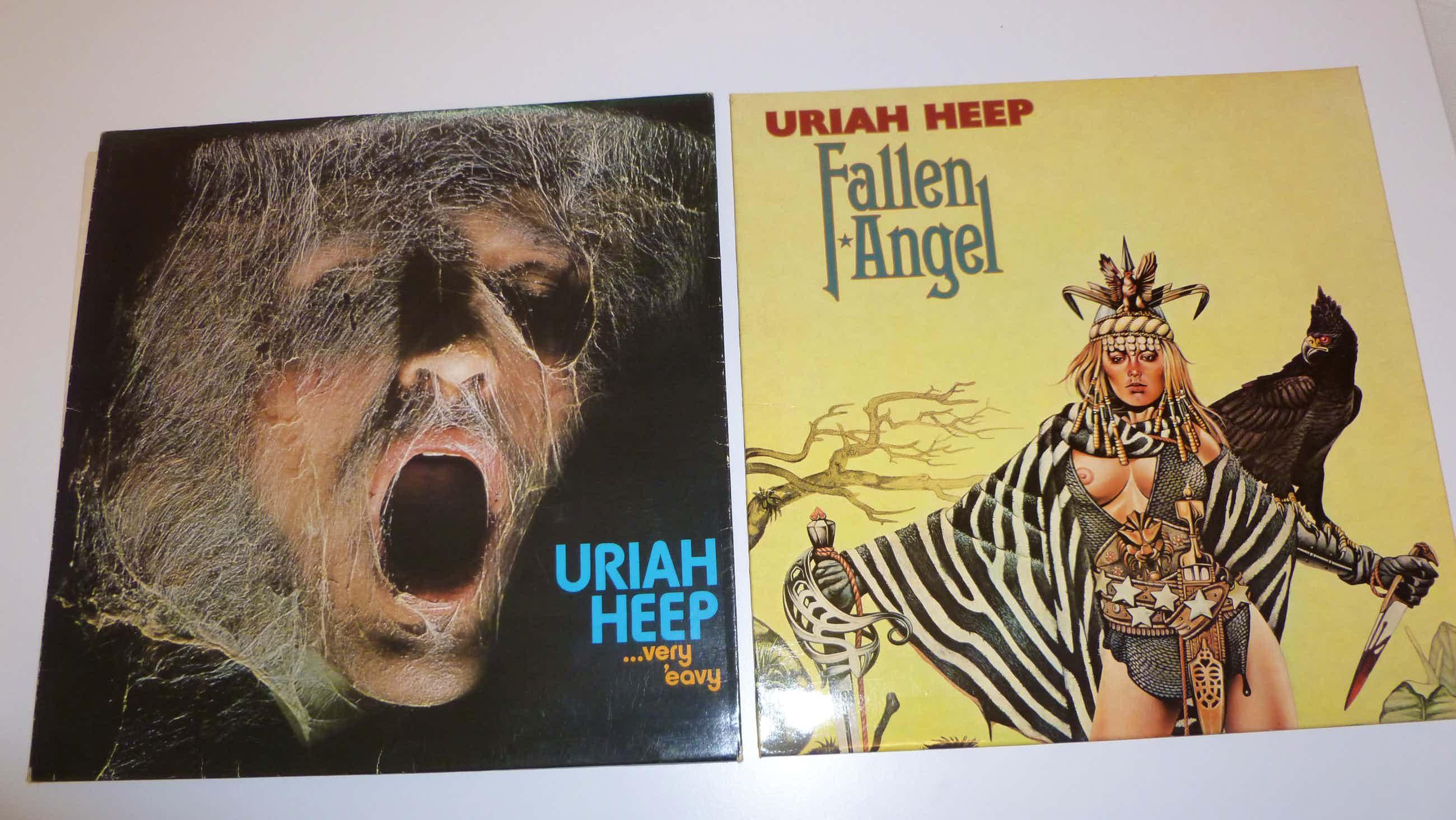 Uriah Heep - 2 Albums - Fallen angel - Very 'eavy kopen? Bied vanaf 40!