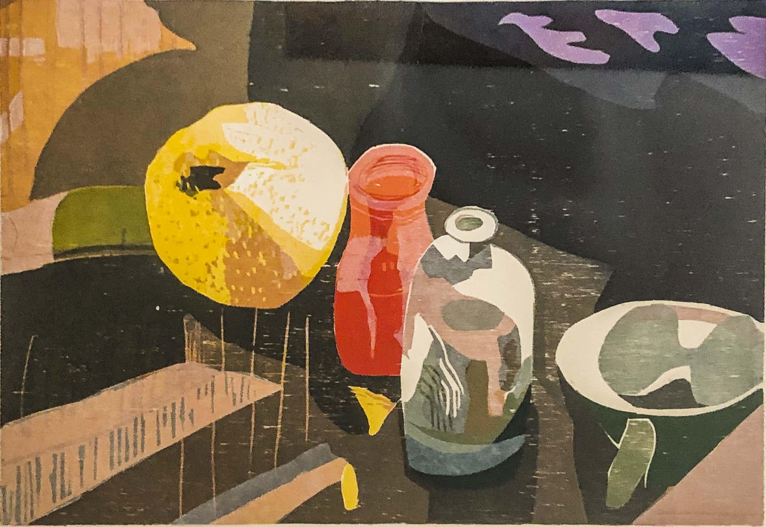 Vincent van Ojen - Stilleven - citroen met glaswerk op tafel kopen? Bied vanaf 80!
