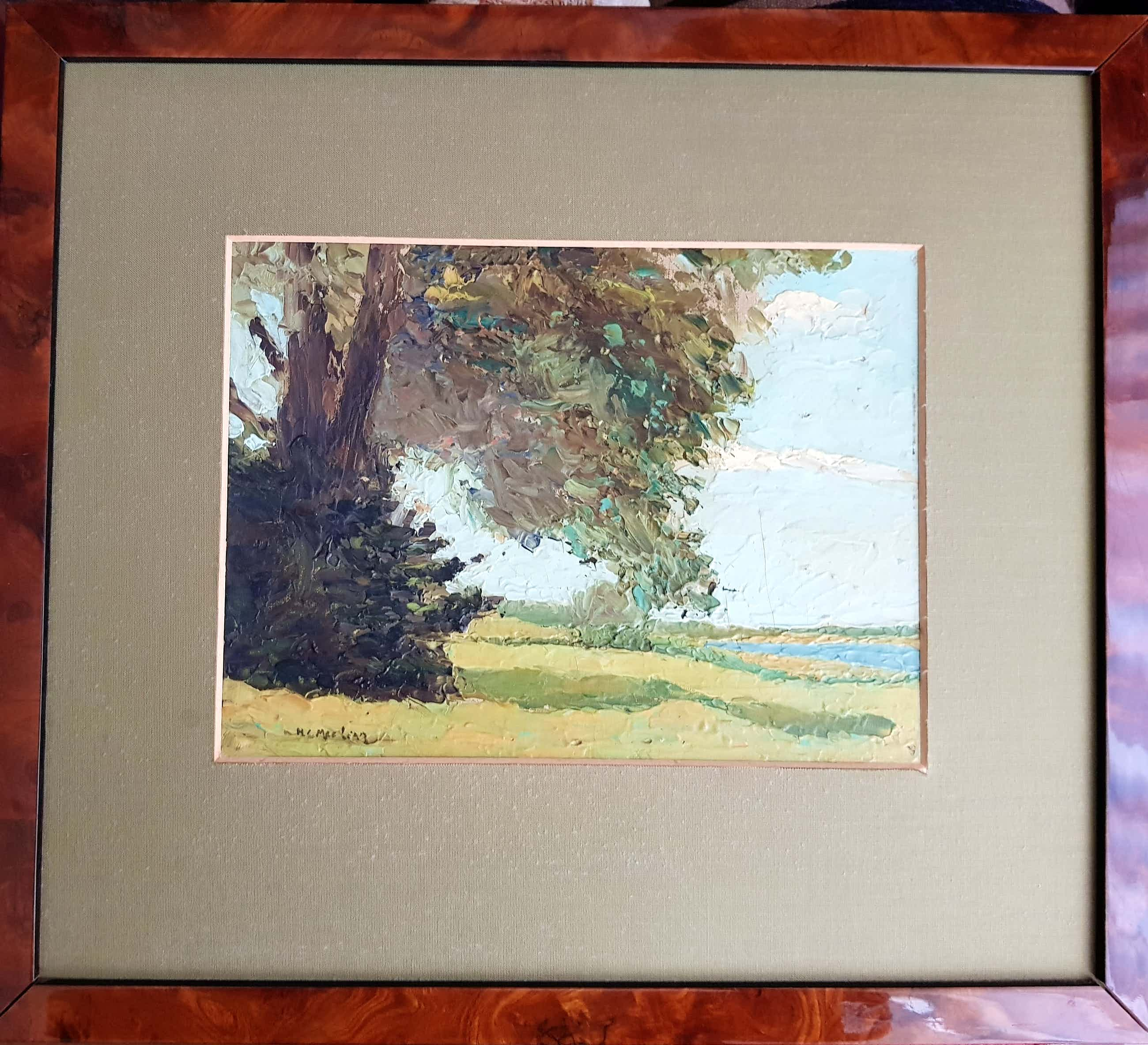 Henri C. Mac-Lean - (1898-1972), Landschap met bosschage en rivier kopen? Bied vanaf 105!