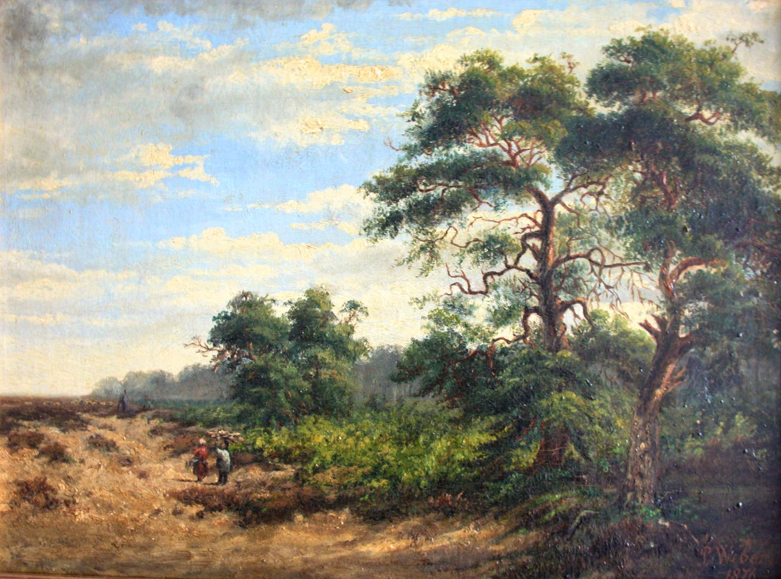 Paul Weber - Wandelaarsters in landschap kopen? Bied vanaf 220!