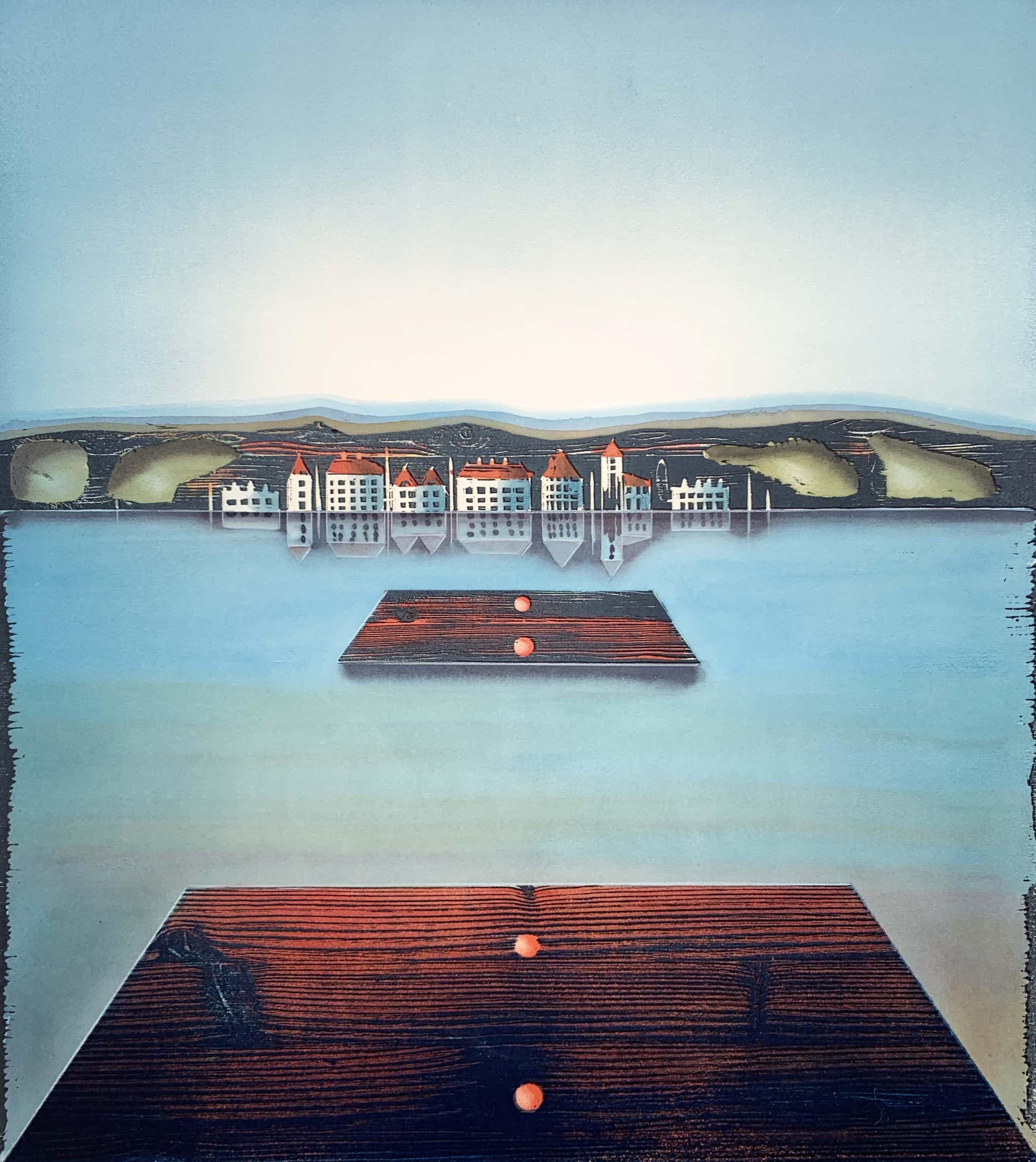 Willem de Vries - Houtsnede - 'Arrival' - 1999 (Kleine oplage) kopen? Bied vanaf 60!