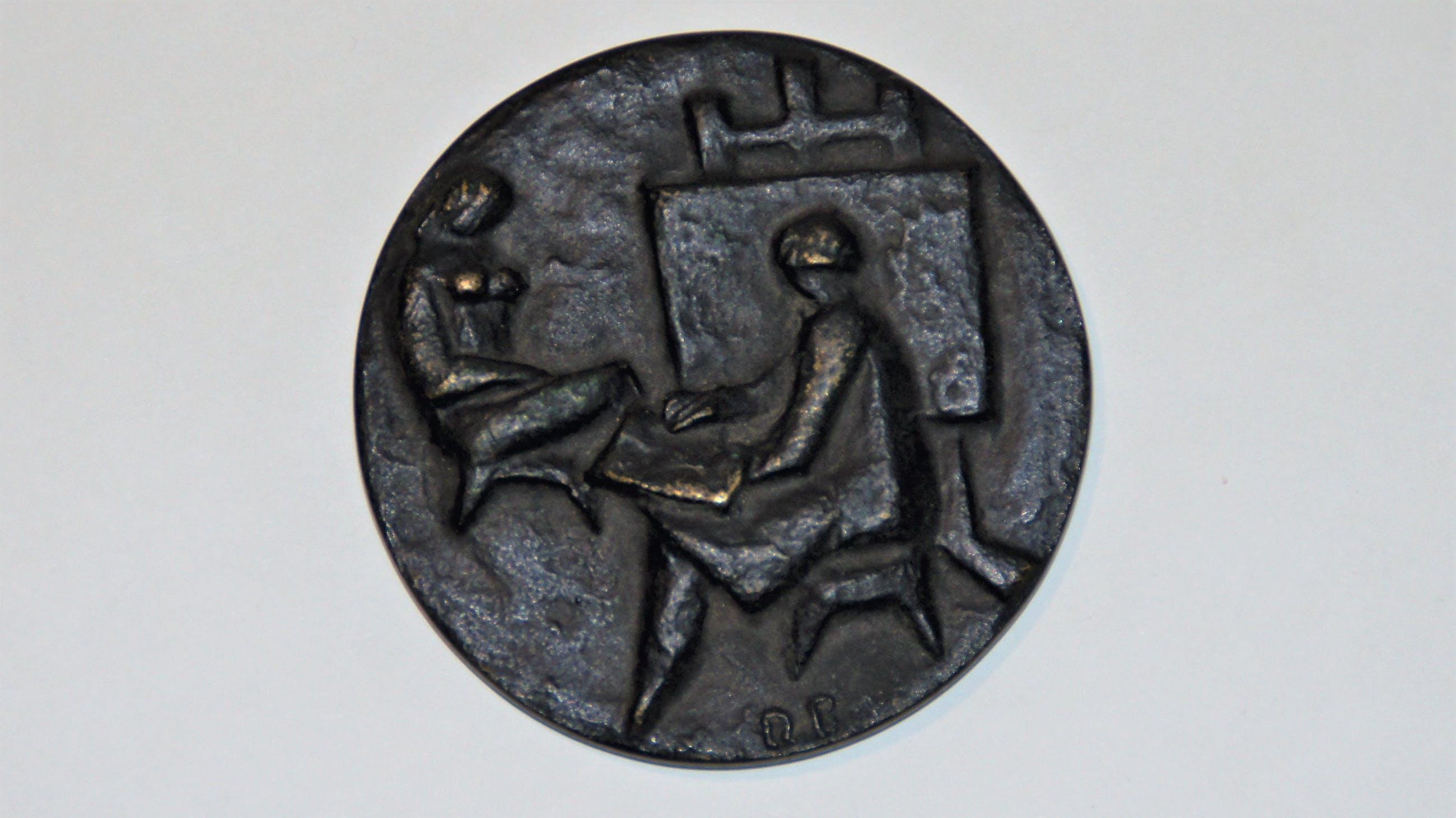 Albert Termote - Bronzen penning: Maecenas-penning Pulchri Studio Den Haag, 1969 kopen? Bied vanaf 50!
