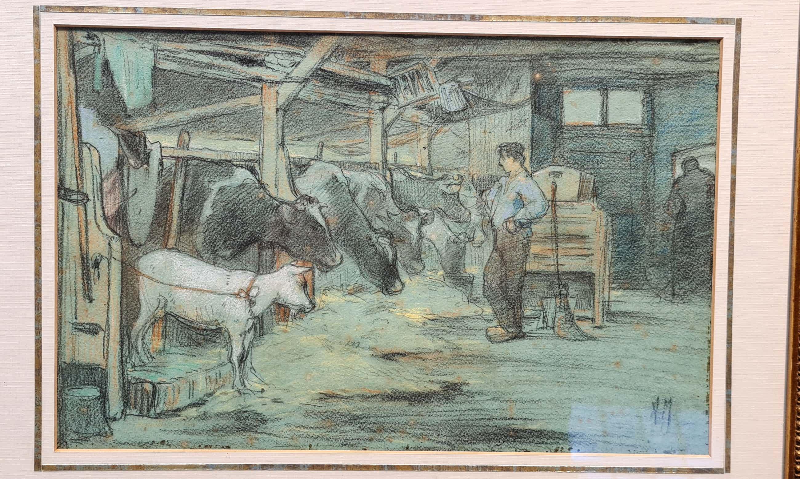 Anton Mauve (sr.) - Boer bij koeien kopen? Bied vanaf 110!