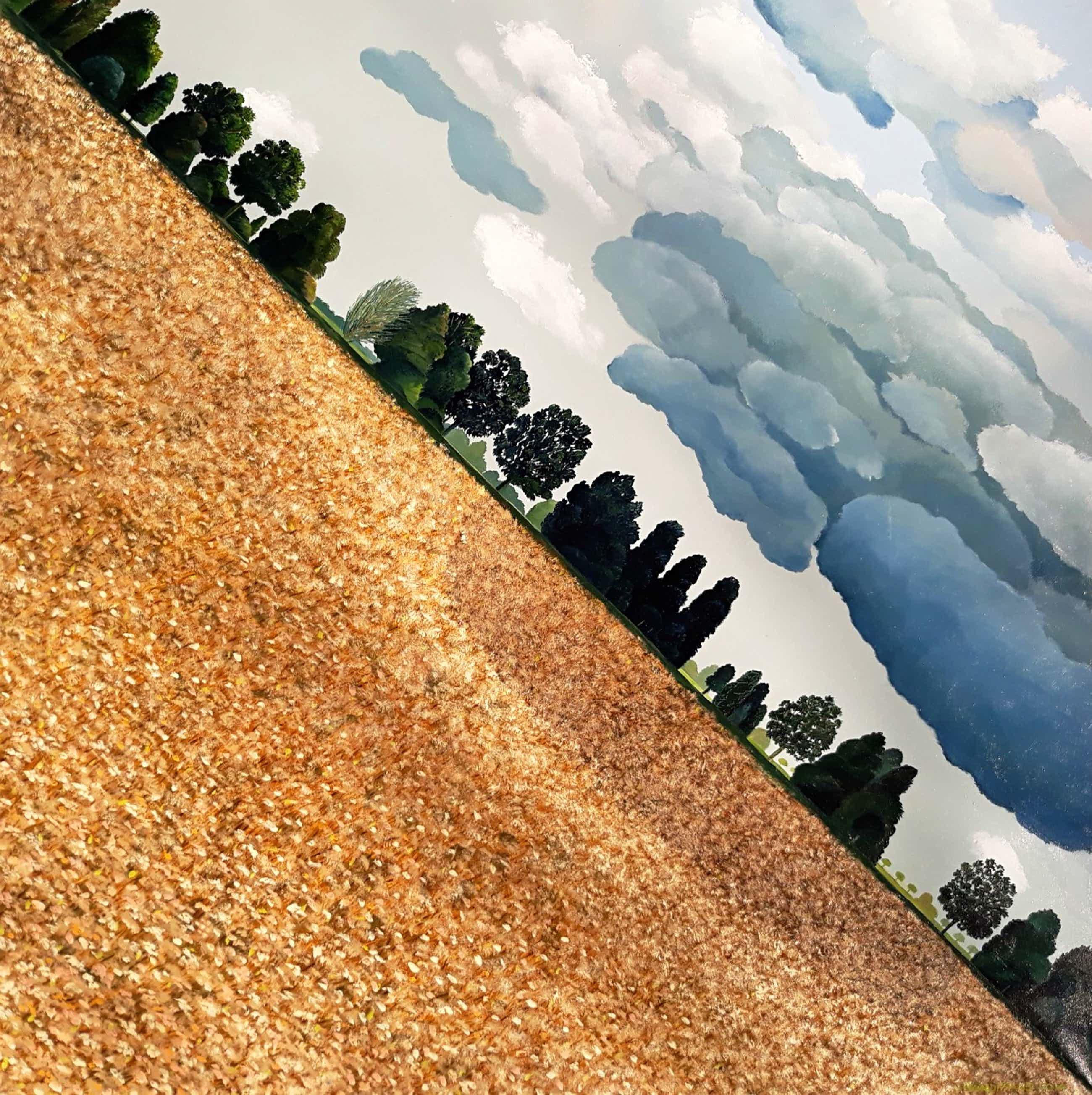 Erna van Mondfrans - Landschap met karweizaad, olieverf op doek (groot) kopen? Bied vanaf 225!