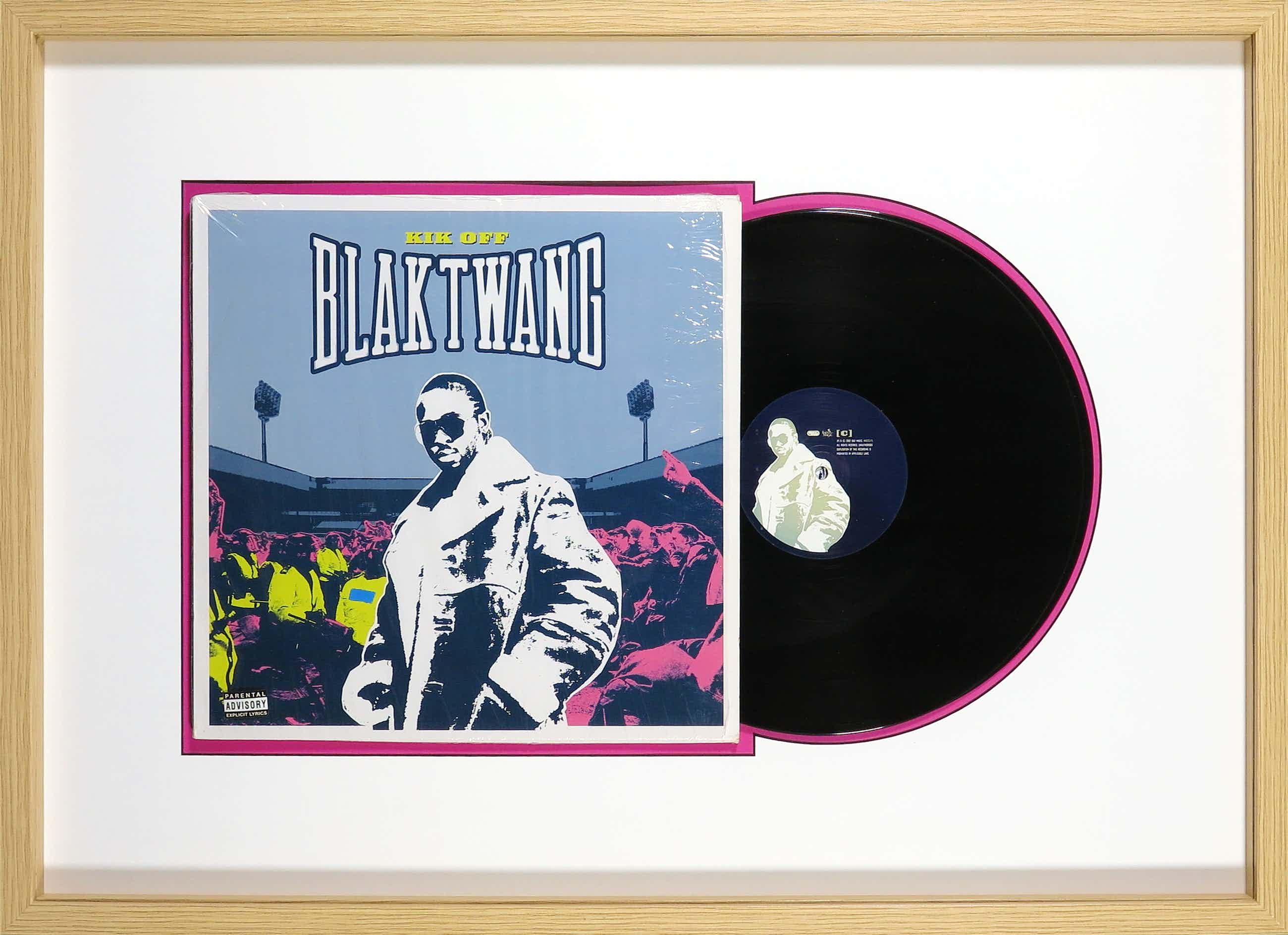 Banksy - LP-hoes, Blaktwang: Kik Off - Ingelijst kopen? Bied vanaf 170!