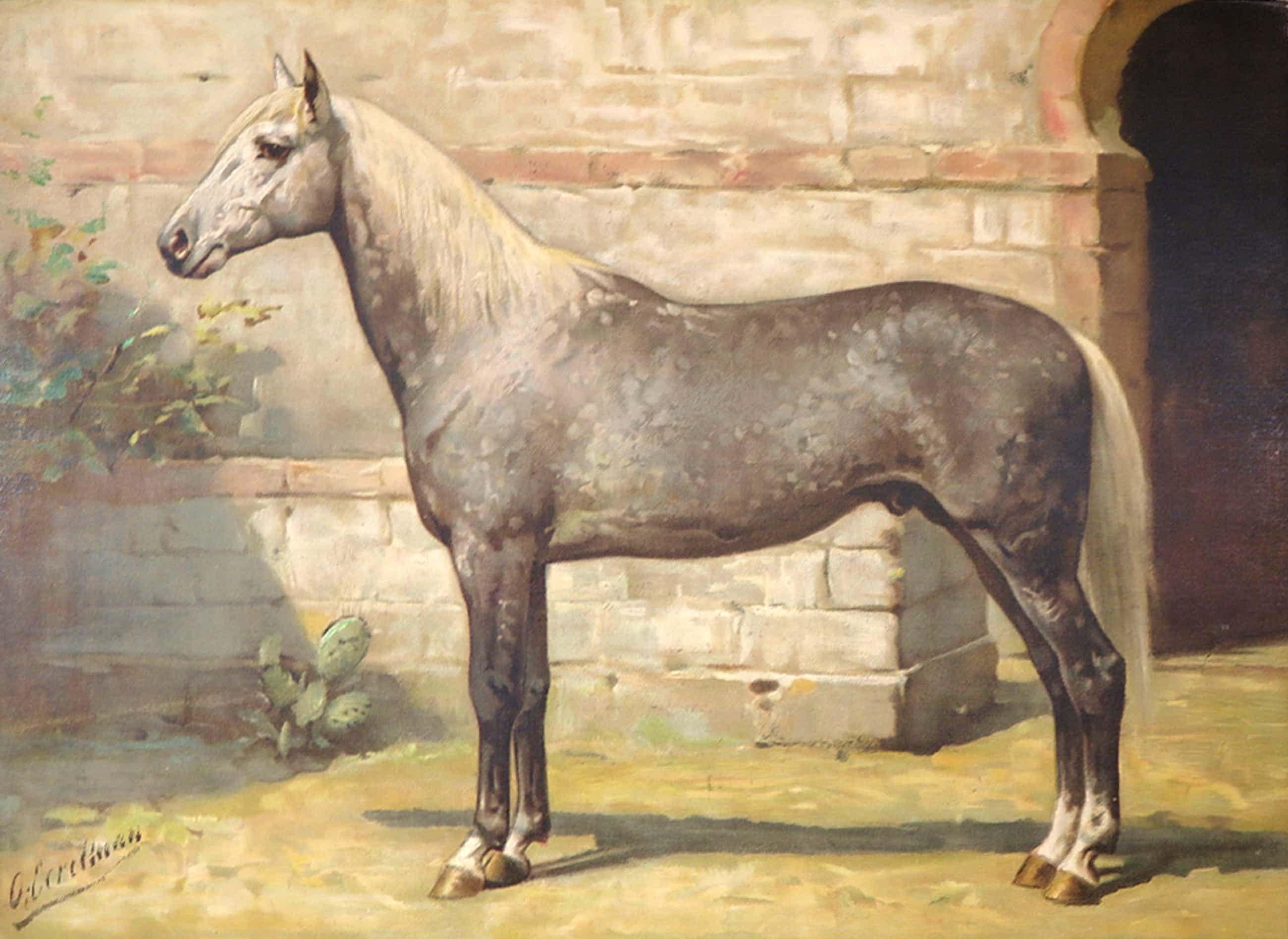 Otto Eerelman - Chromolithografie, Het paard kopen? Bied vanaf 80!